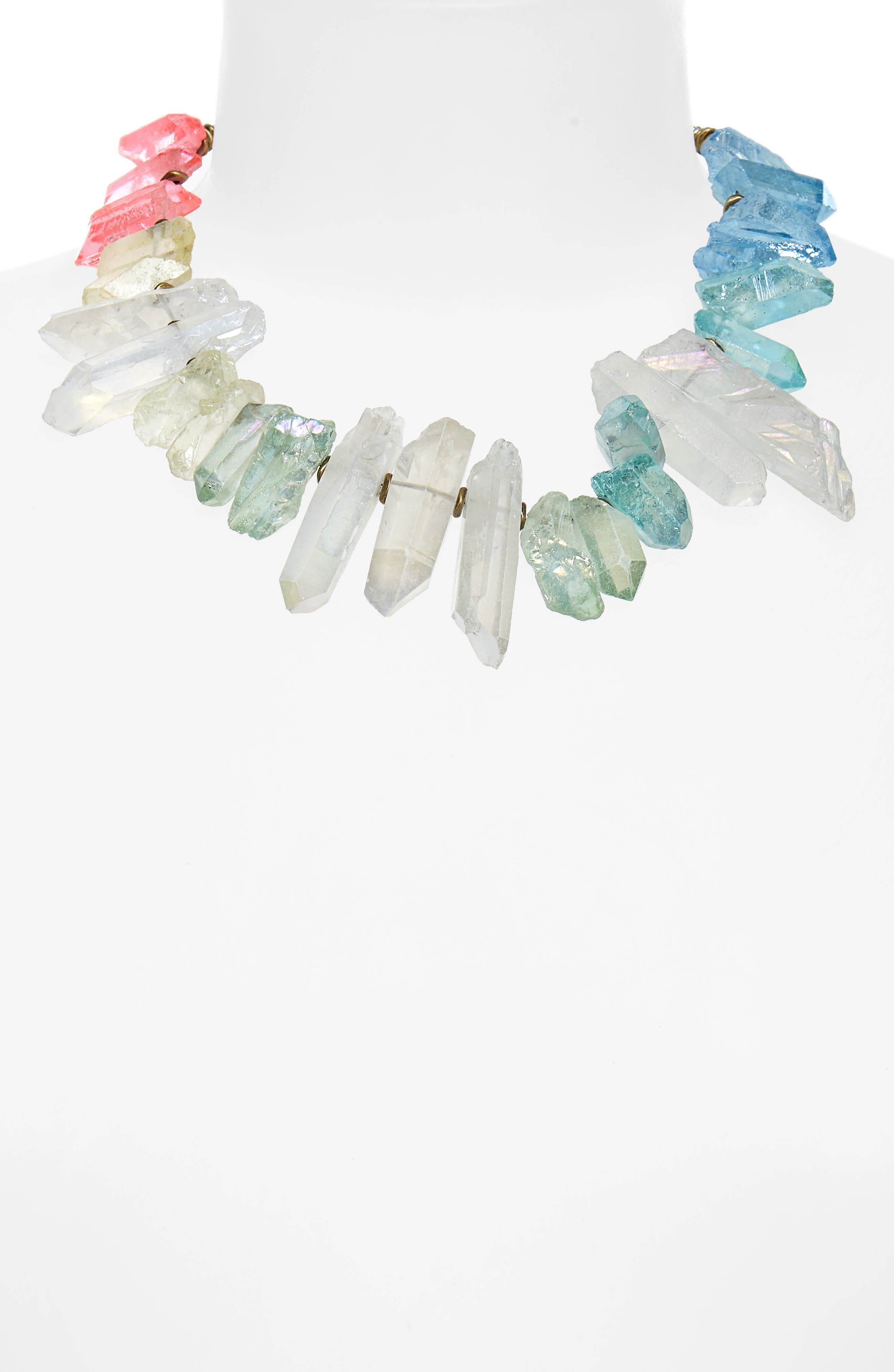 Aura Crystal Collar Necklace,                             Alternate thumbnail 2, color,                             710