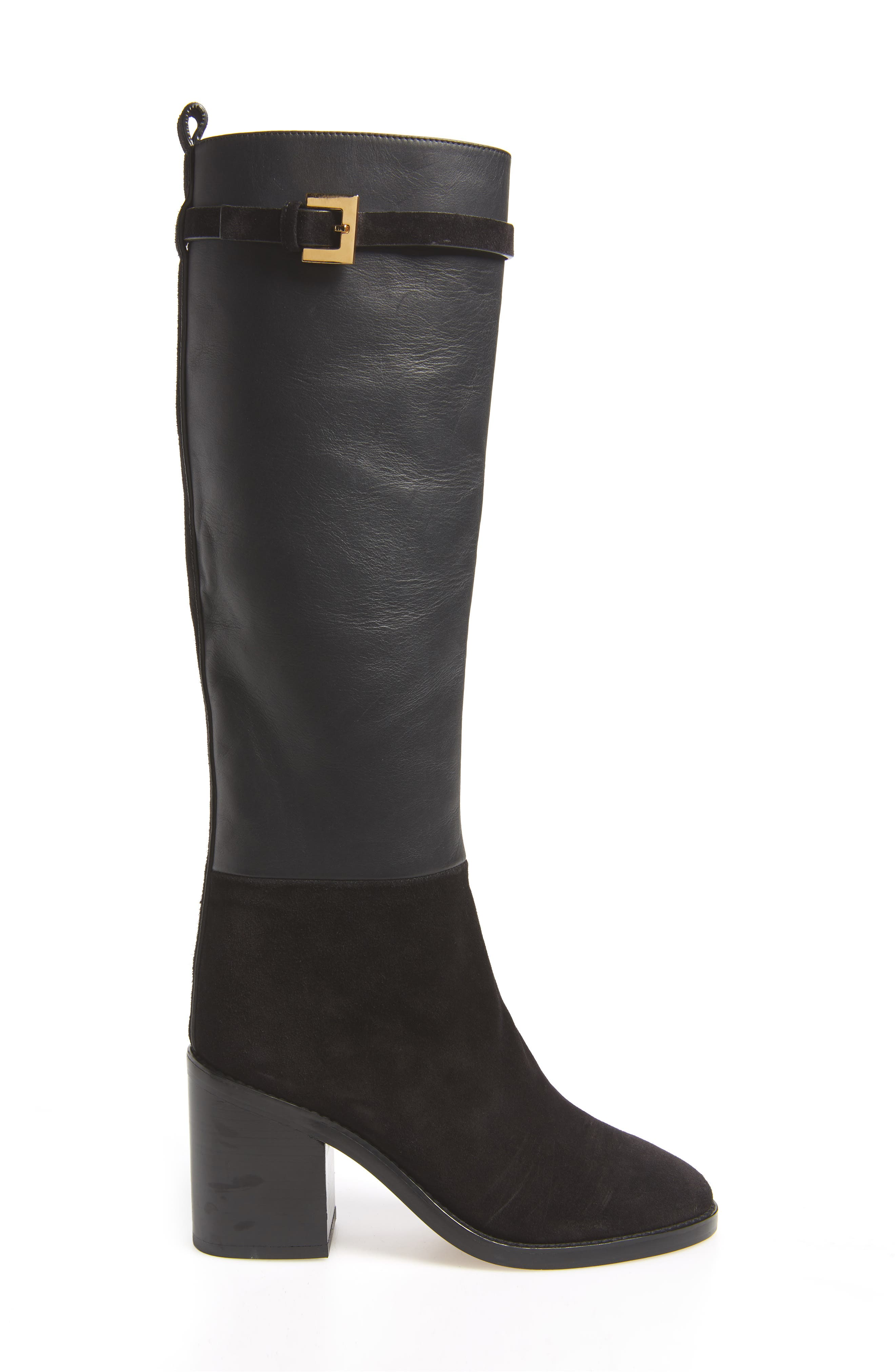 Morrison Knee High Boot,                             Alternate thumbnail 3, color,                             BLACK FEZ
