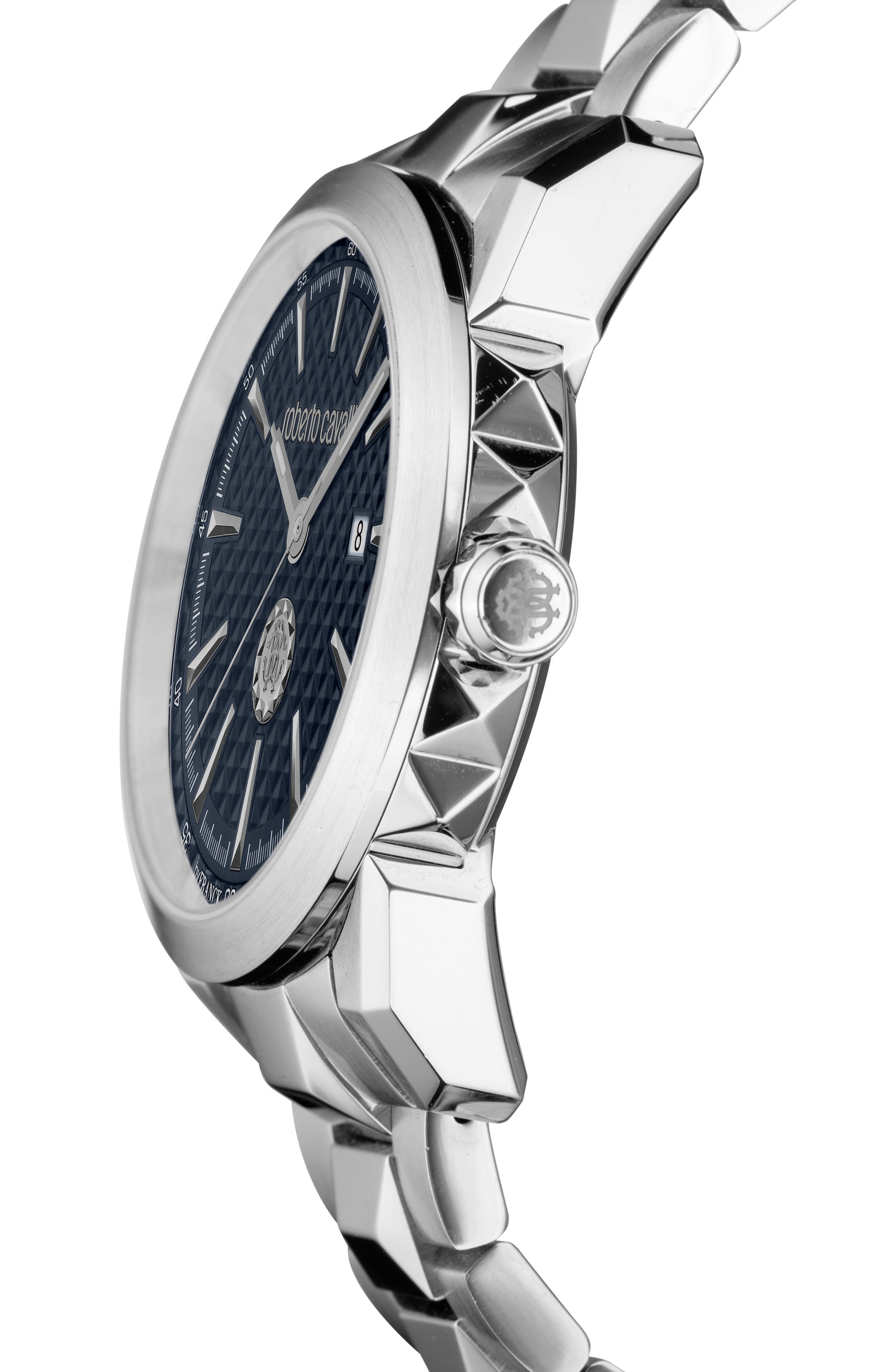 Costellato Bracelet Watch,                             Alternate thumbnail 3, color,                             SILVER/ BLUE