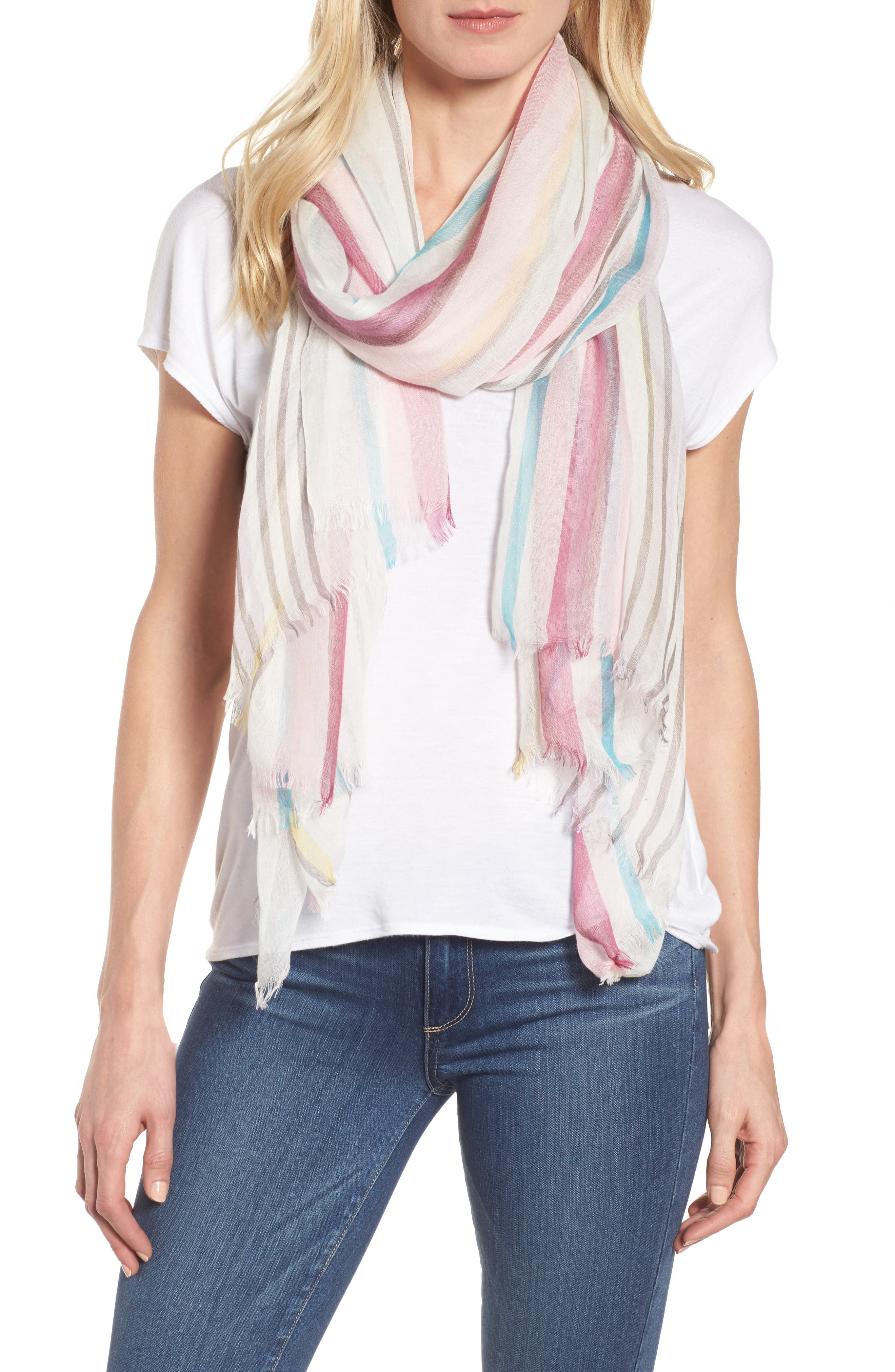 Yarn Dyed Stripe Wrap,                             Main thumbnail 6, color,