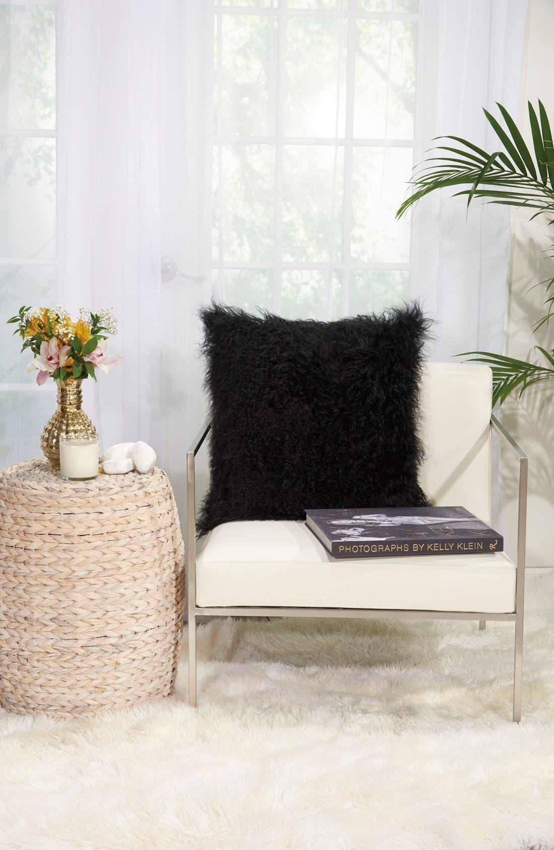 Genuine Tibetan Wool Shearling Pillow,                             Alternate thumbnail 2, color,                             001