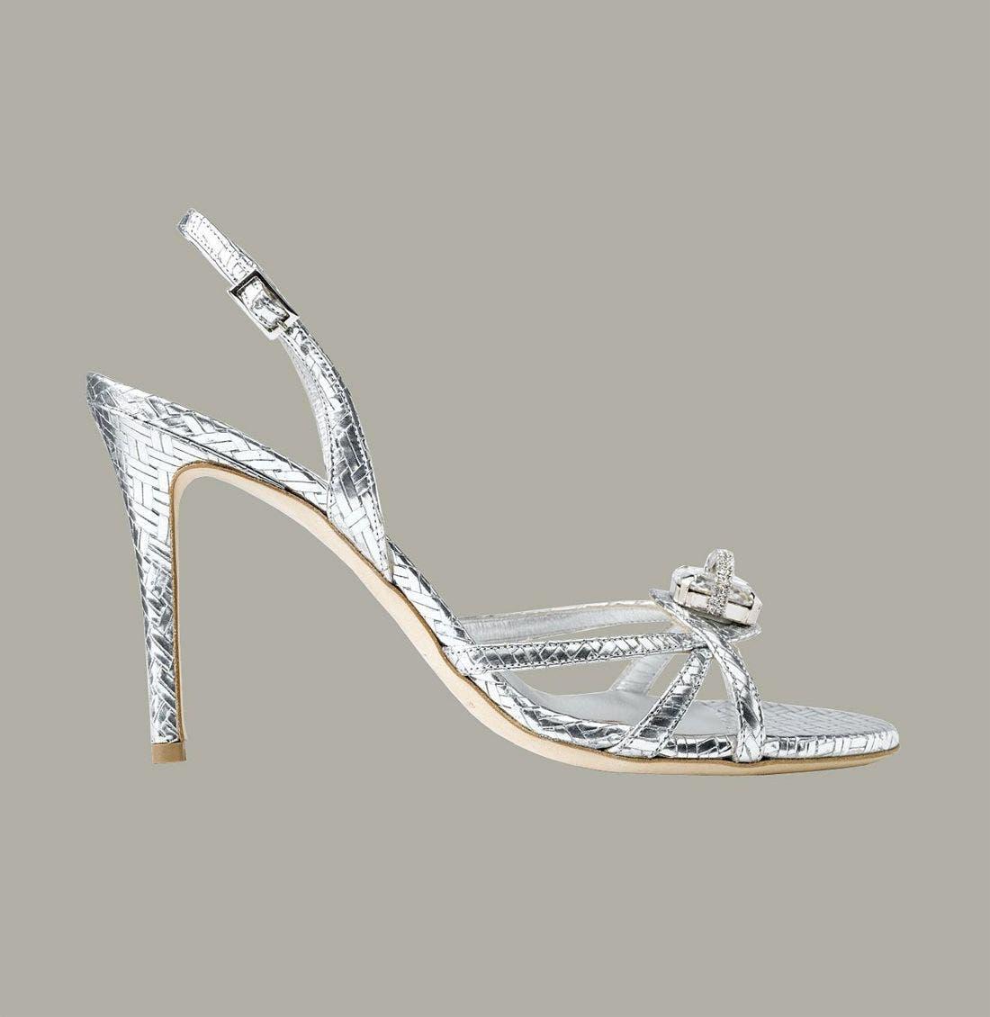MARY NORTON,                             Metallic Leather Sandal with Swarovski Crystal,                             Alternate thumbnail 2, color,                             040