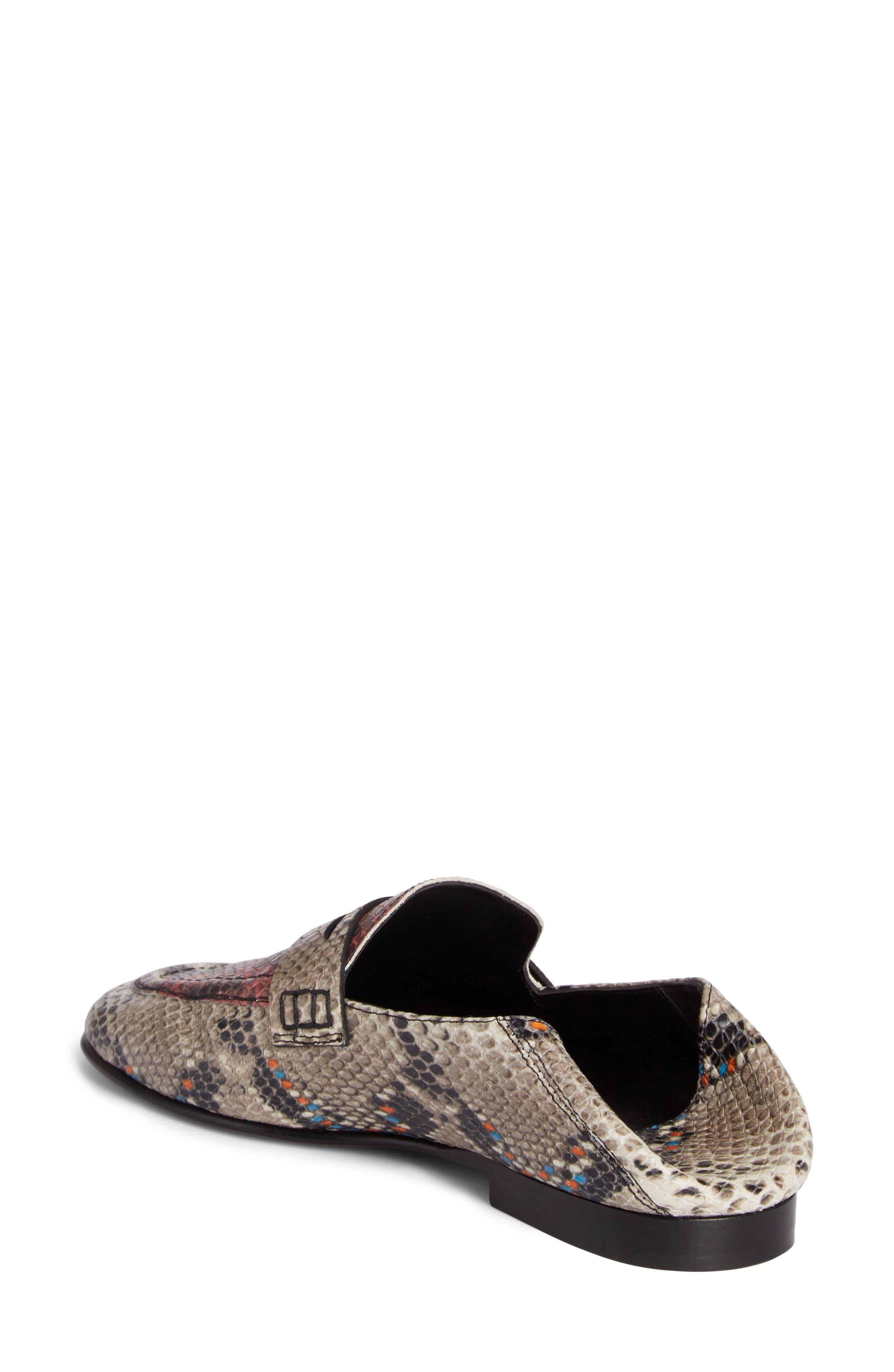 Fezzy Snakeskin Embossed Convertible Loafer,                             Alternate thumbnail 2, color,