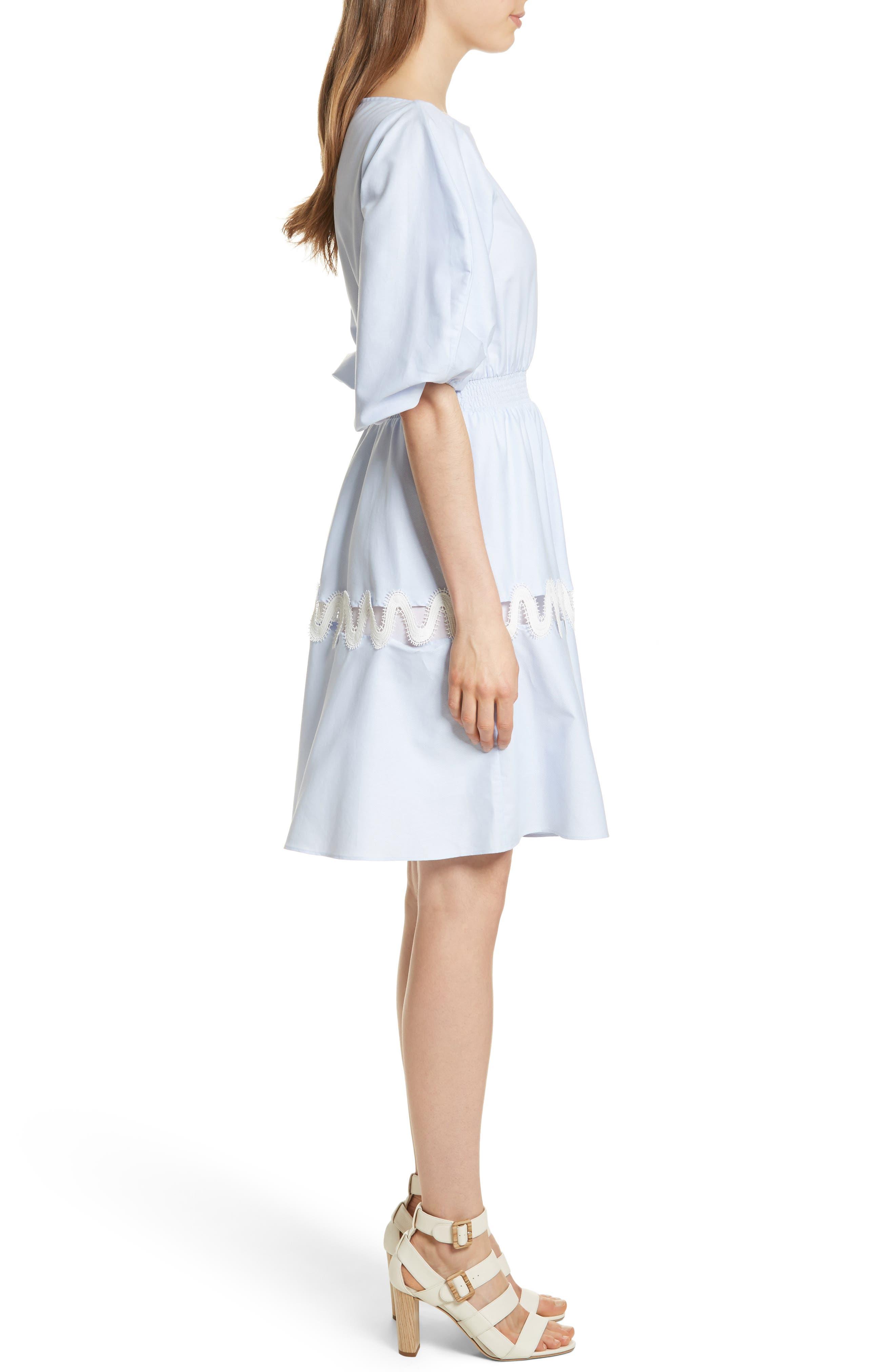 Prose & Poetry Charleene Cotton Balloon Sleeve Dress,                             Alternate thumbnail 3, color,