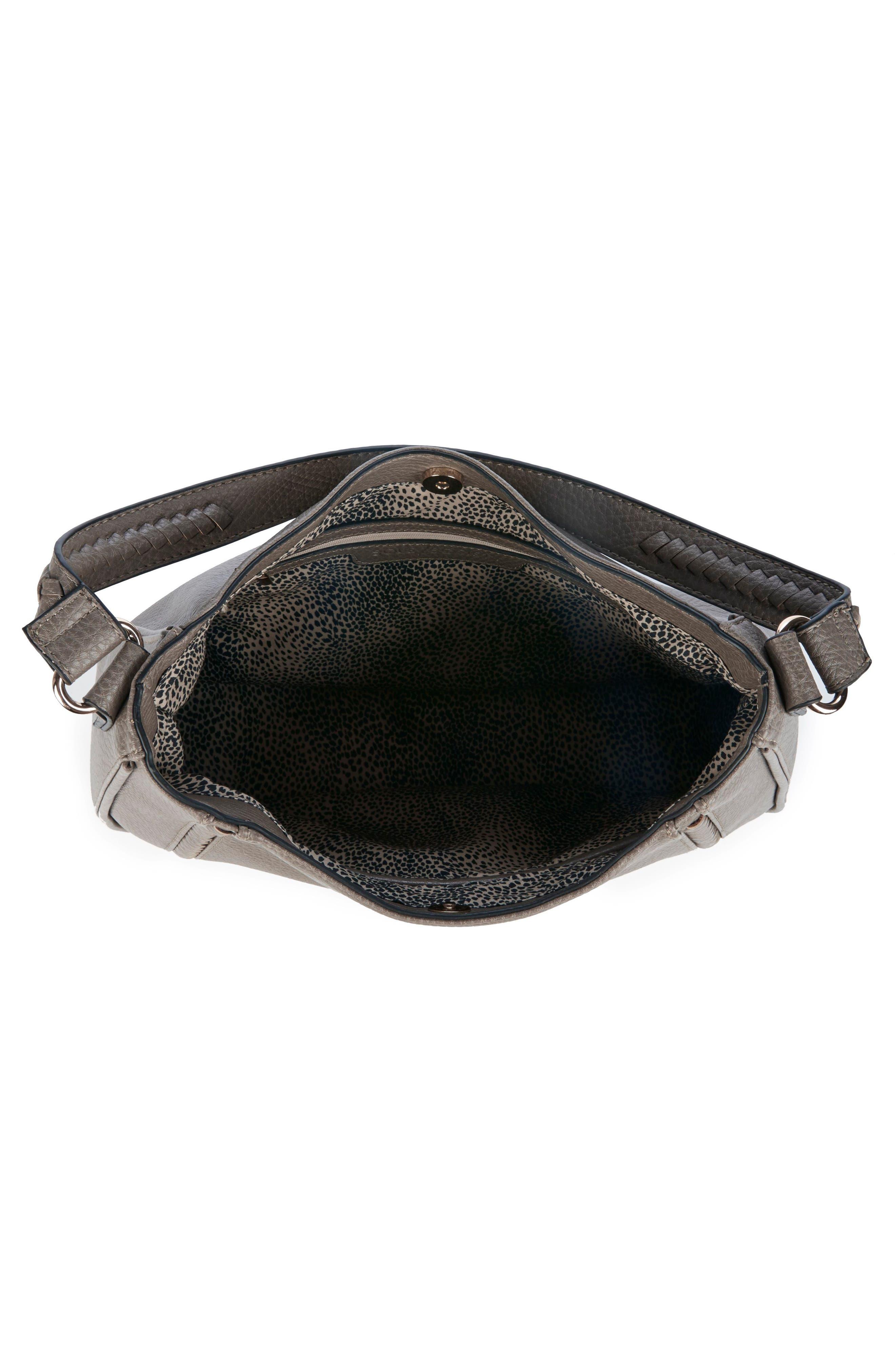 Sarafina Faux Leather Shoulder Bag,                             Alternate thumbnail 4, color,                             020