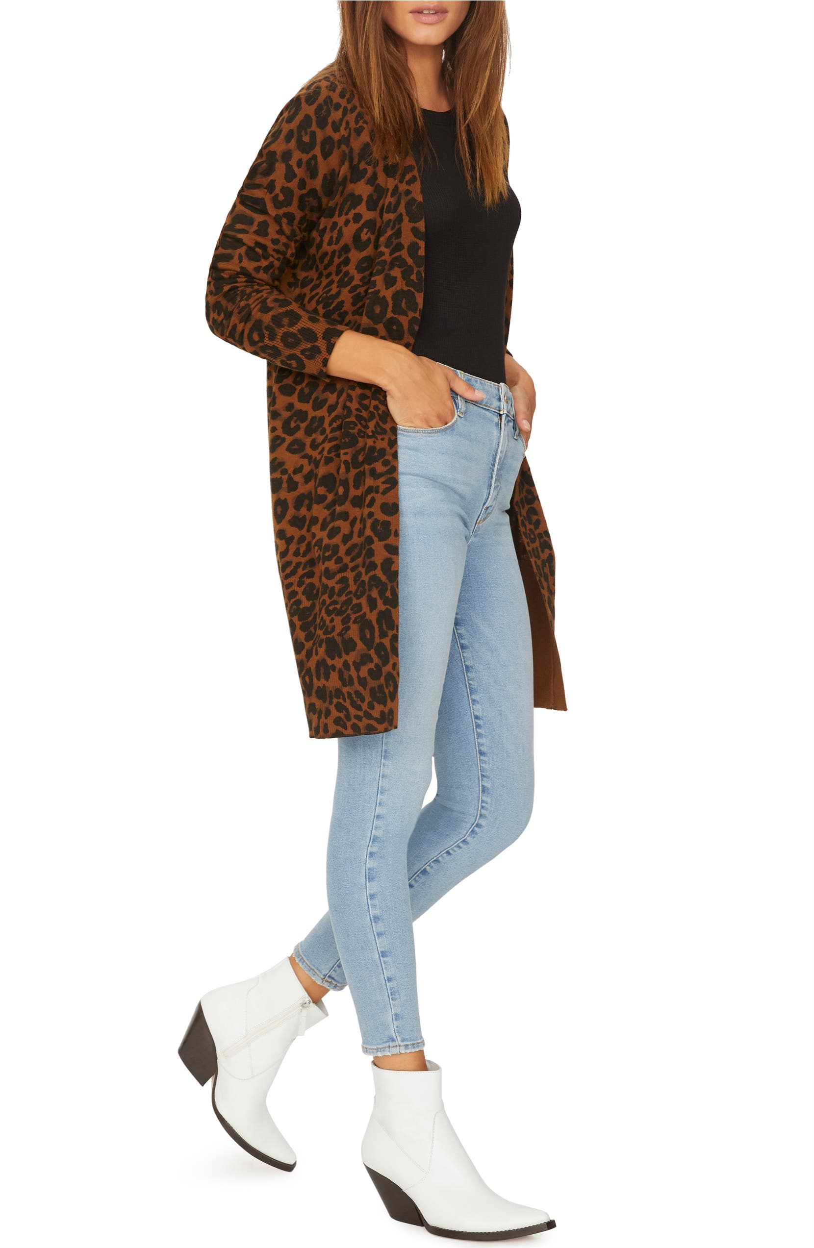 39167a116bf Sanctuary Lenox Leopard Print Cardigan (Regular   Petite)