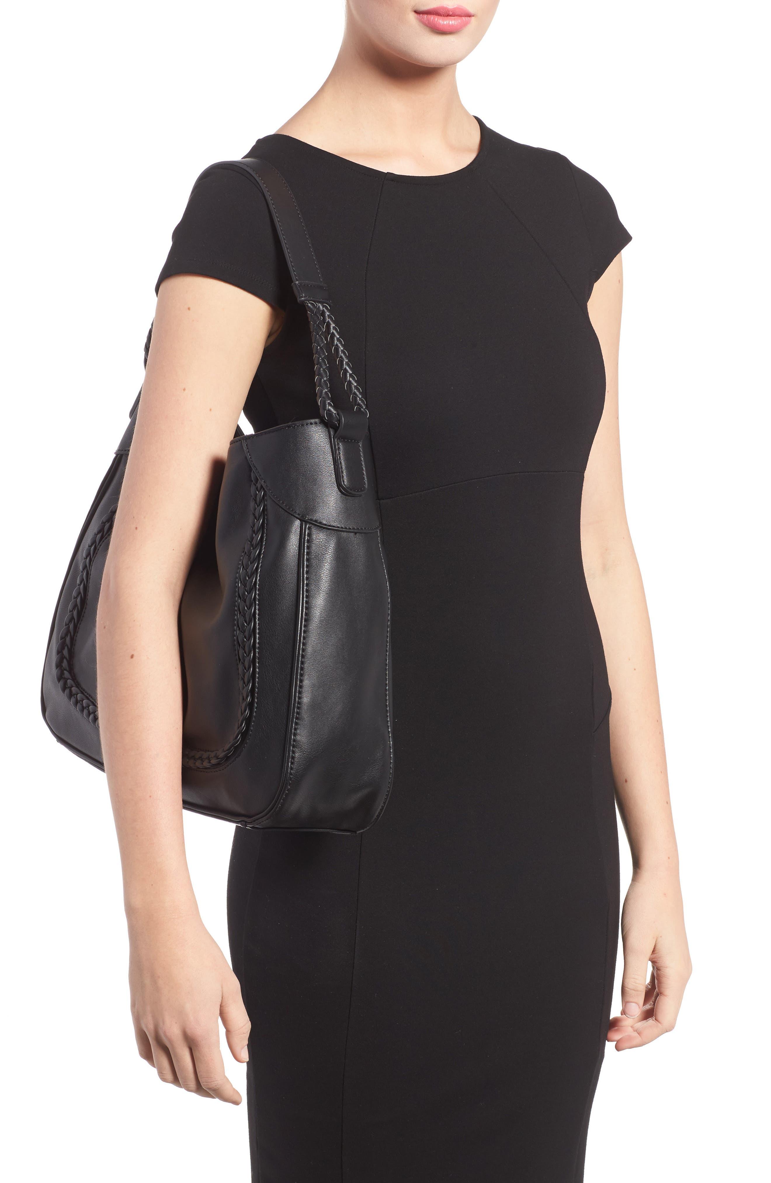 Rema Faux Leather Shoulder Bag,                             Alternate thumbnail 2, color,                             001