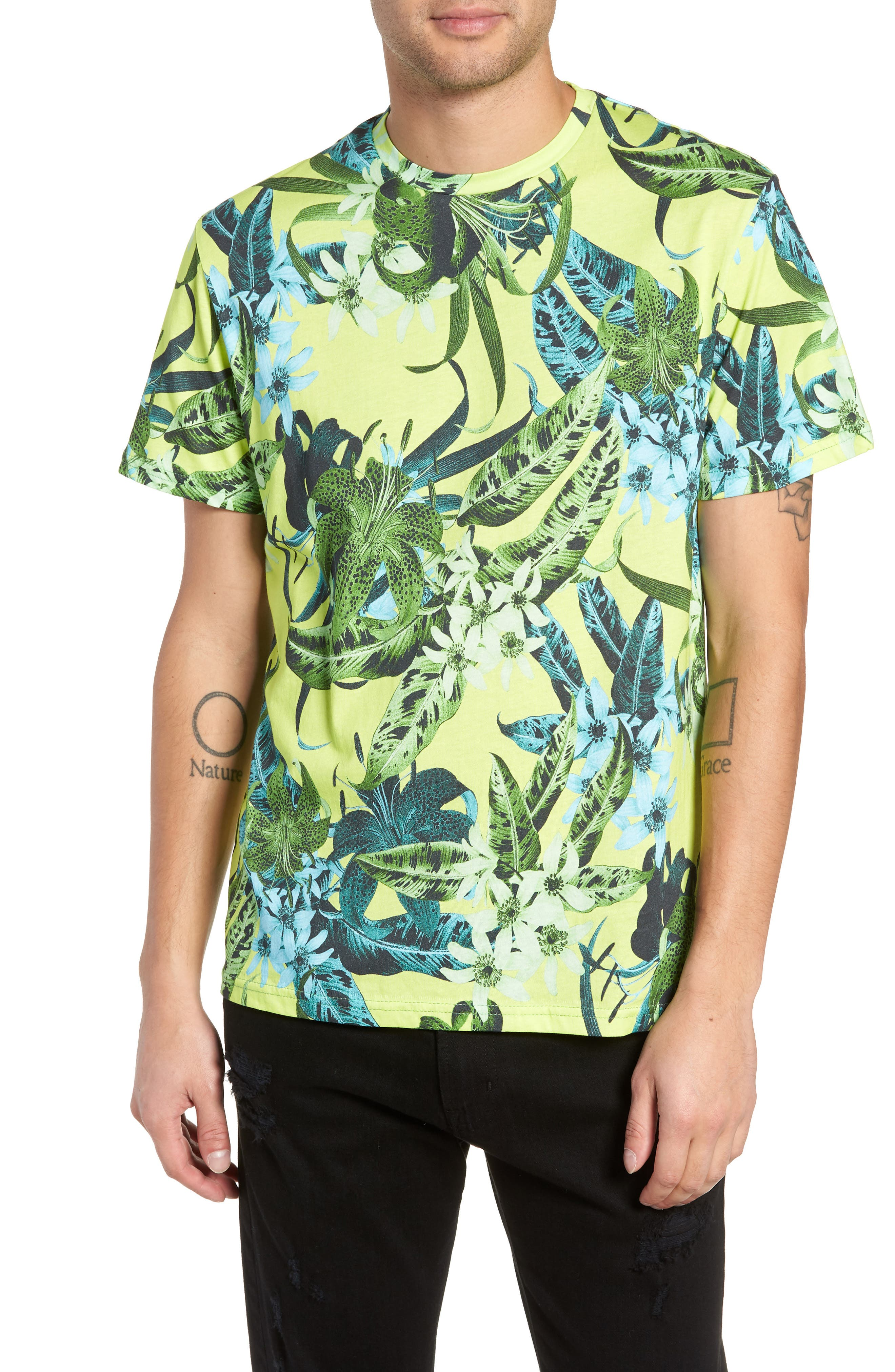 Classic Floral Shirt,                             Main thumbnail 1, color,                             GREEN
