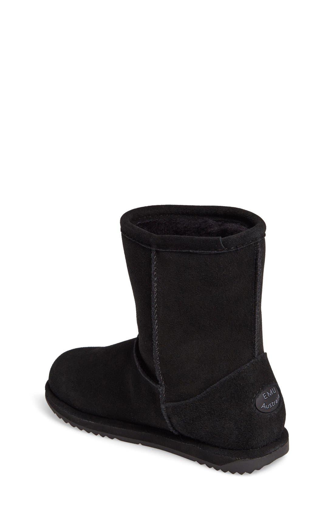 Brumby Waterproof Boot,                             Alternate thumbnail 8, color,                             BLACK SUEDE