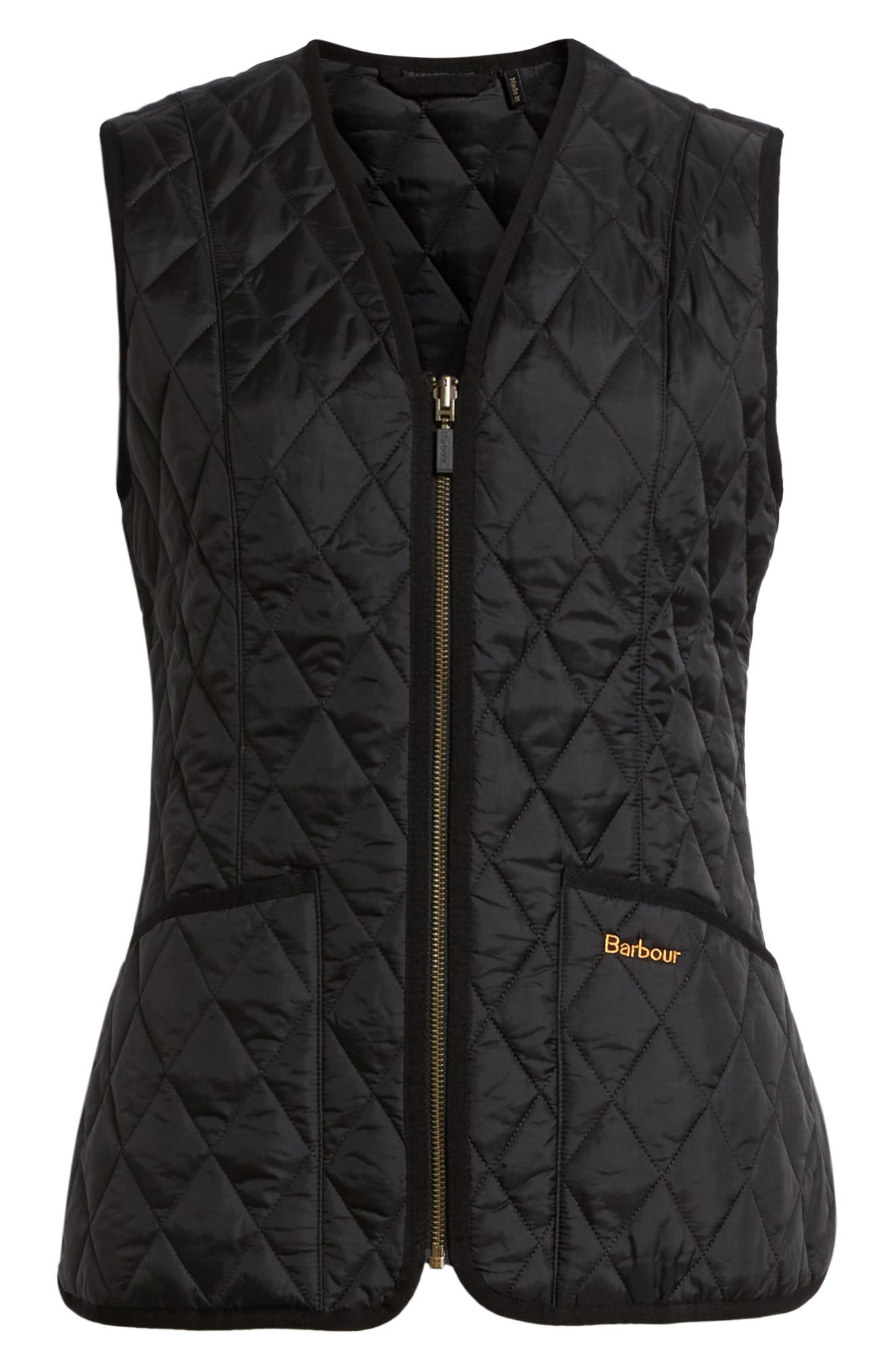Betty Quilted Vest,                             Alternate thumbnail 6, color,                             001