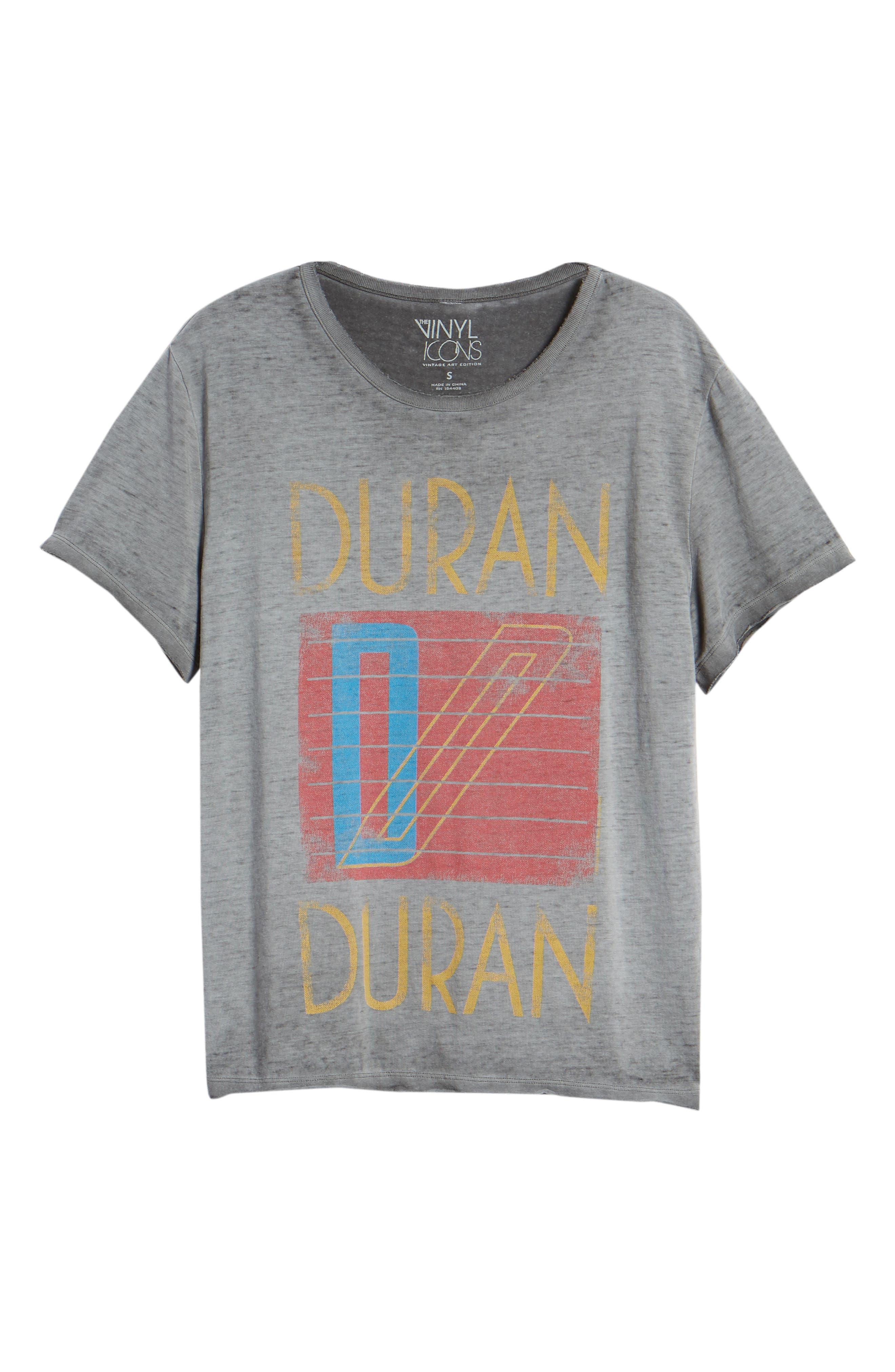 Duran Duran Tee,                             Alternate thumbnail 6, color,                             GREY
