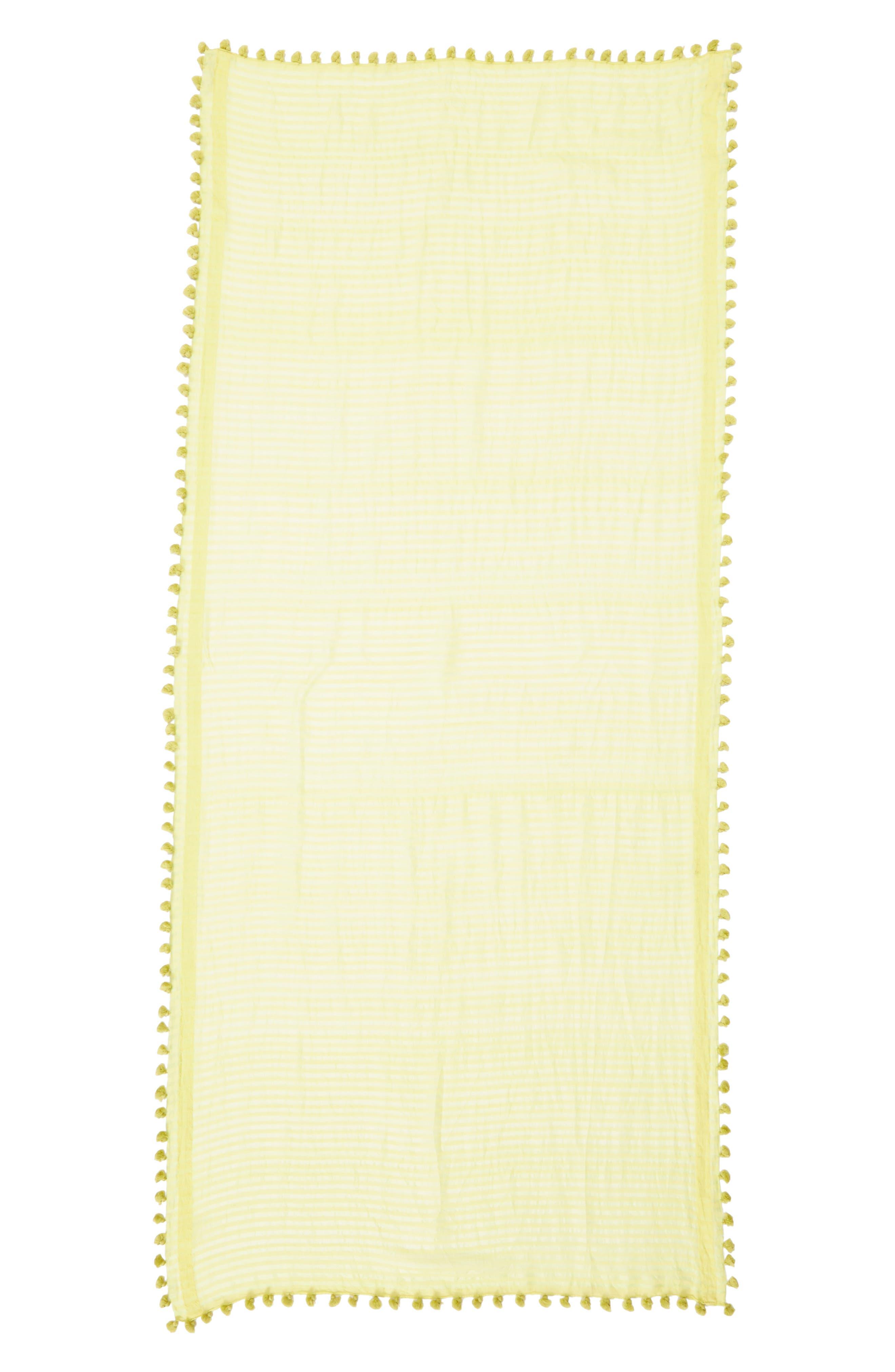 Stripe Cotton & Silk Scarf,                             Alternate thumbnail 3, color,                             361