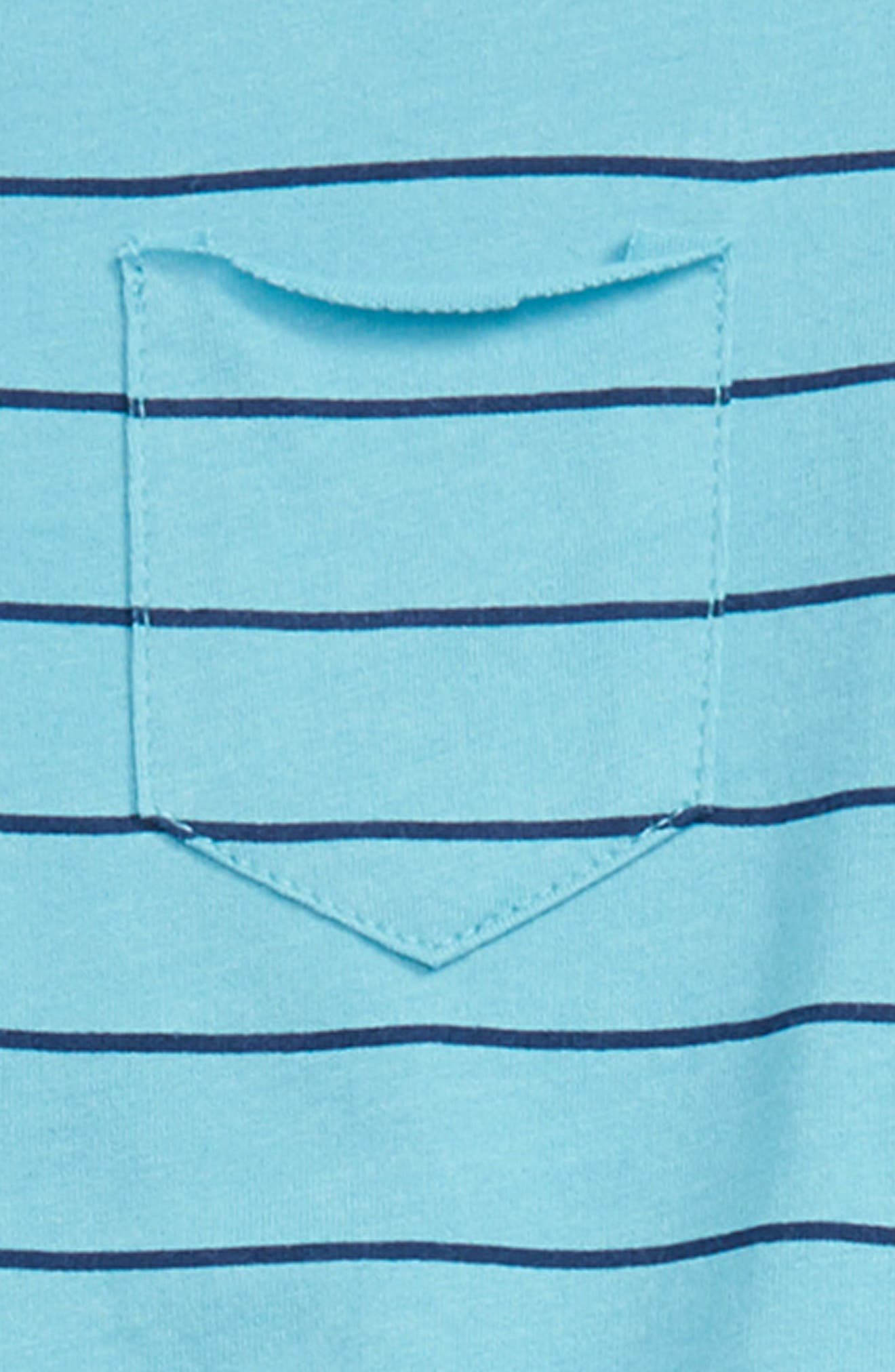 Stripe Henley T-Shirt & Shorts Set,                             Alternate thumbnail 2, color,                             400