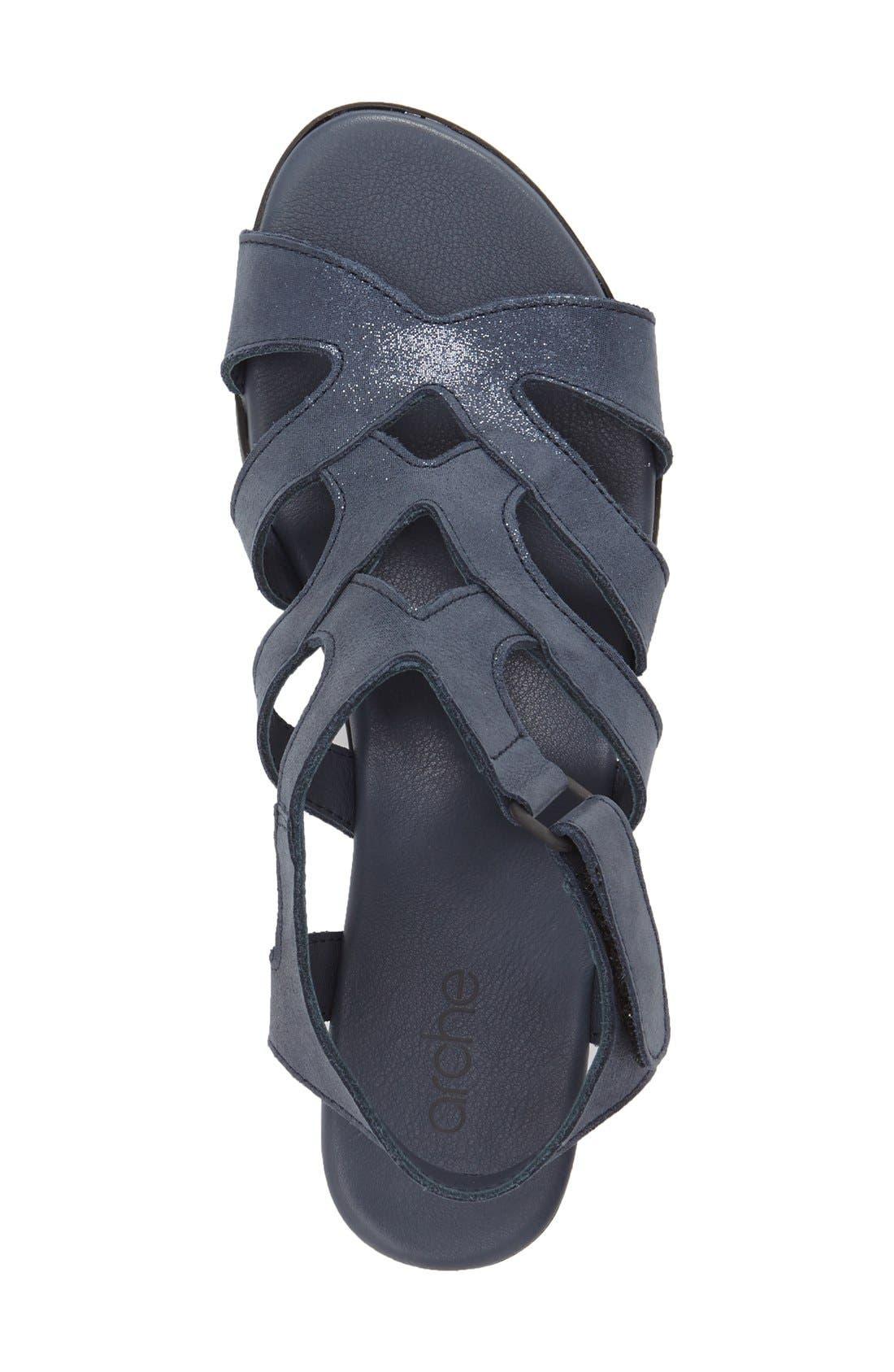 'Obela' Water Resistant Leather Sandal,                             Alternate thumbnail 17, color,