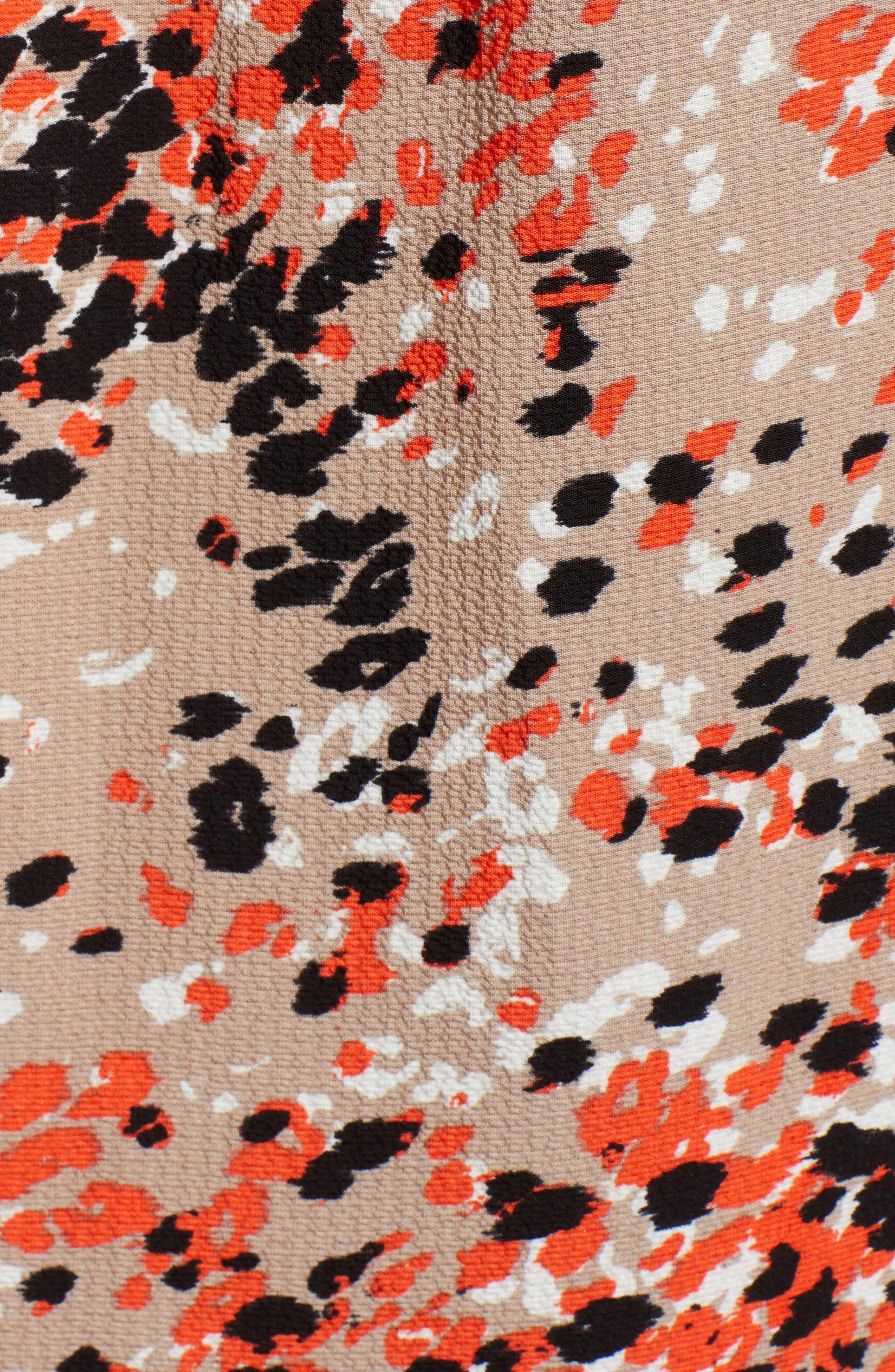 GIBSON, Stretch Crepe Split Neck Sleeveless Blouse, Alternate thumbnail 5, color, 612