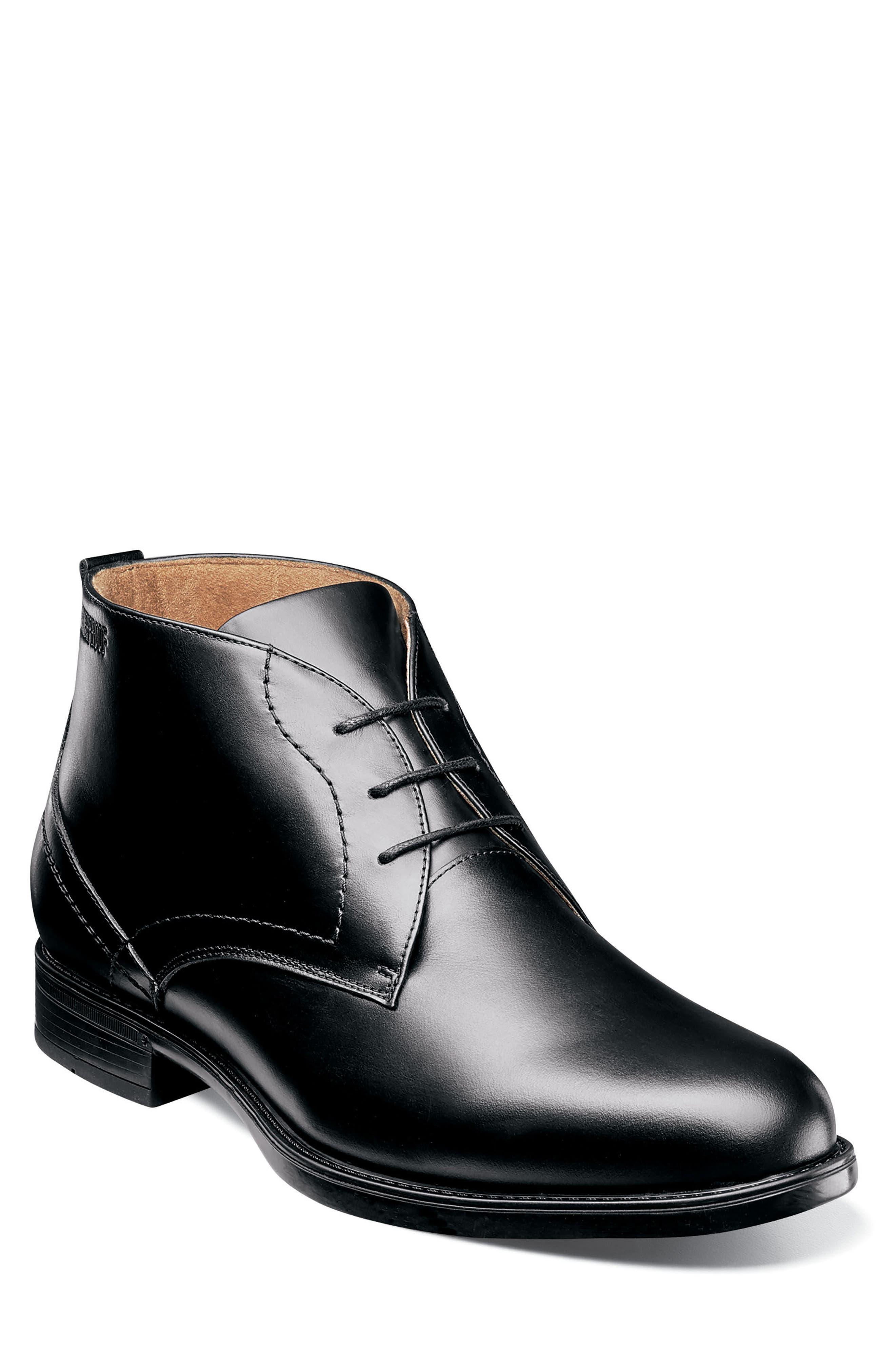 Midtown Waterproof Chukka Boot,                             Main thumbnail 1, color,                             BLACK