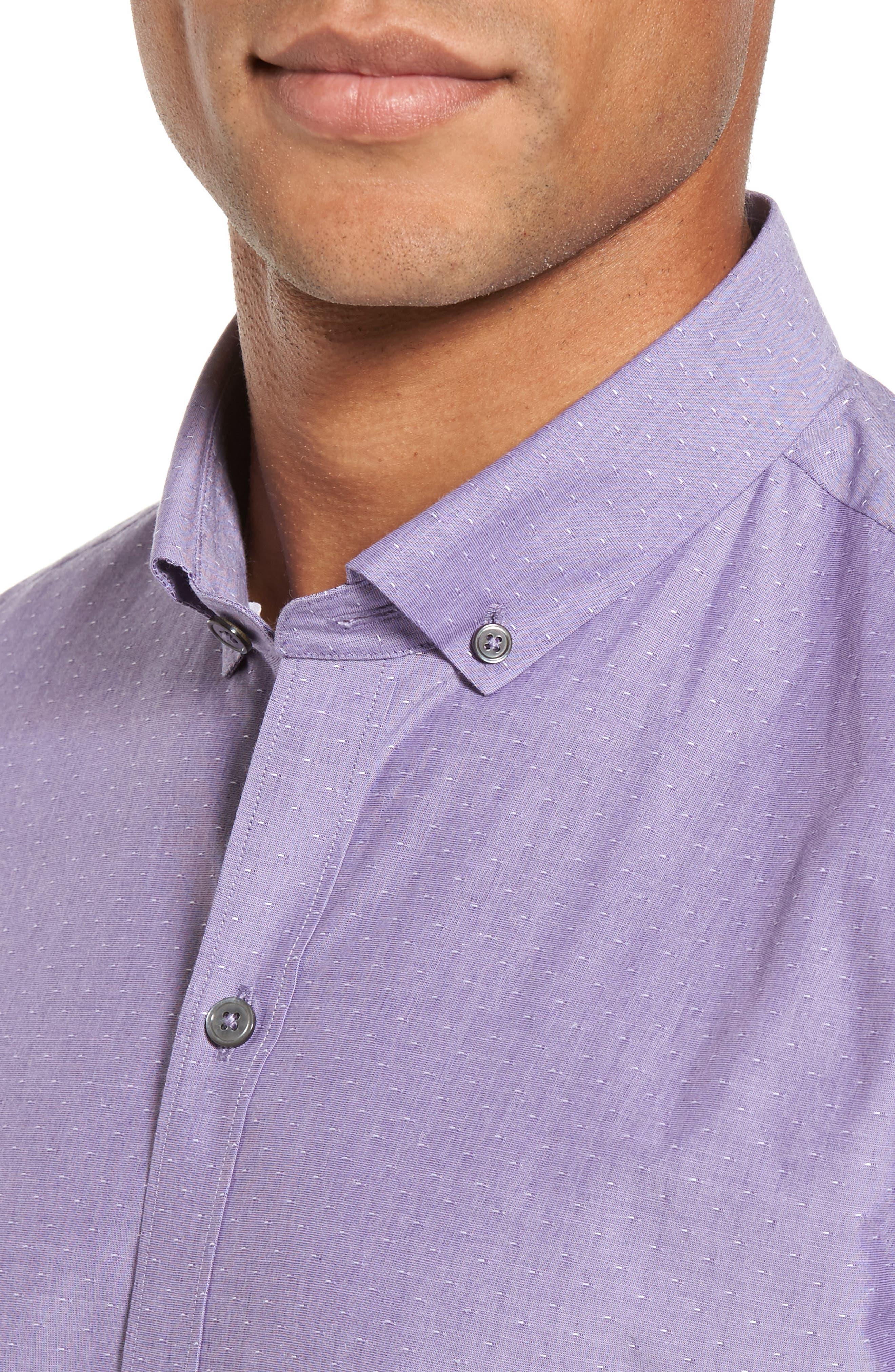 Olson Slim Fit Dobby Sport Shirt,                             Alternate thumbnail 4, color,                             530
