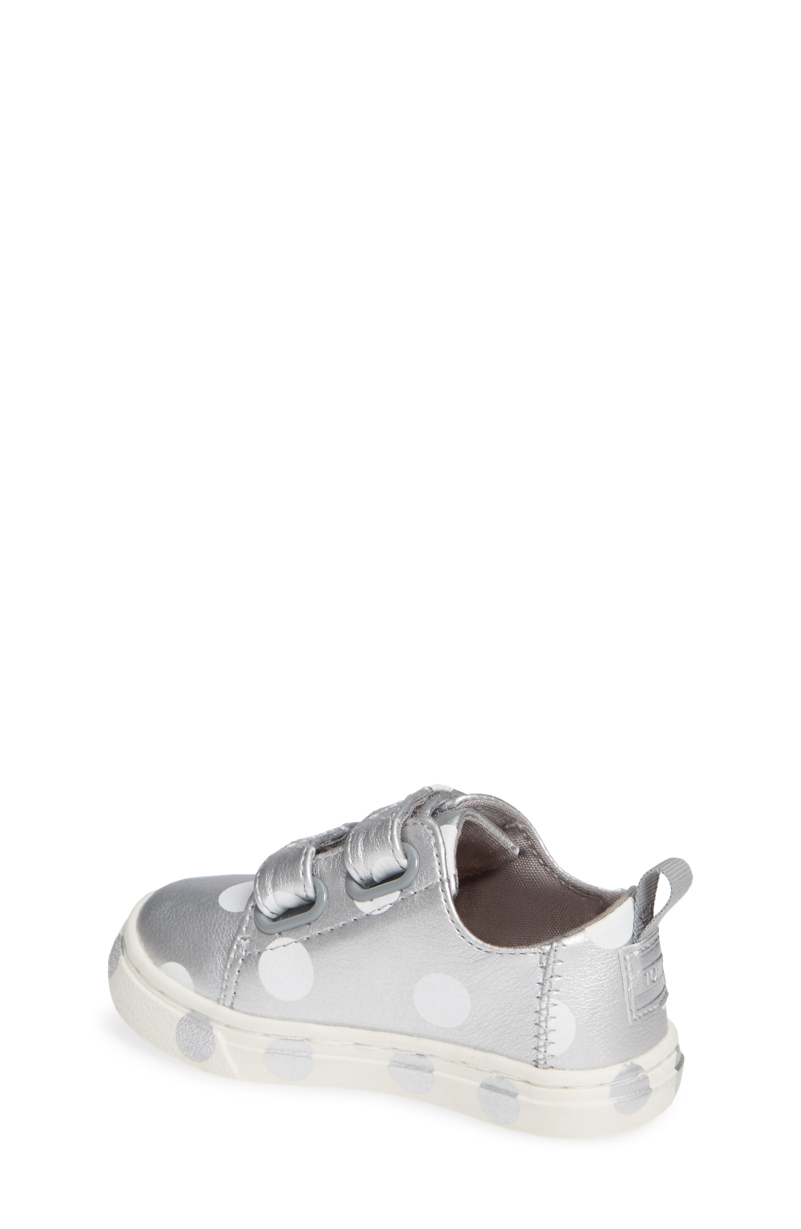 Lenny Sneaker,                             Alternate thumbnail 2, color,                             SILVER SYNTHETIC LEATHER DOTS
