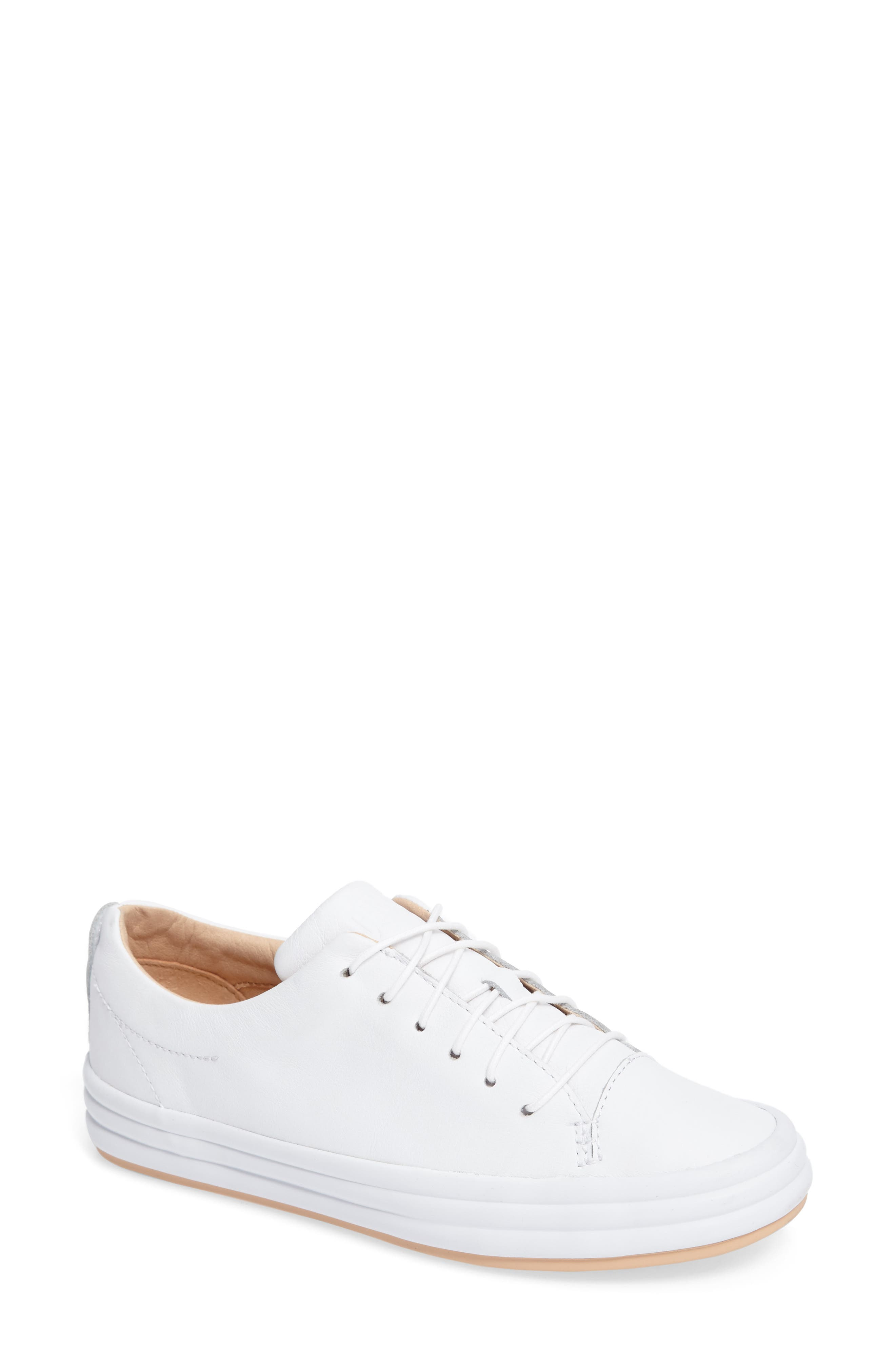 Hoops Sneaker,                         Main,                         color, WHITE LEATHER