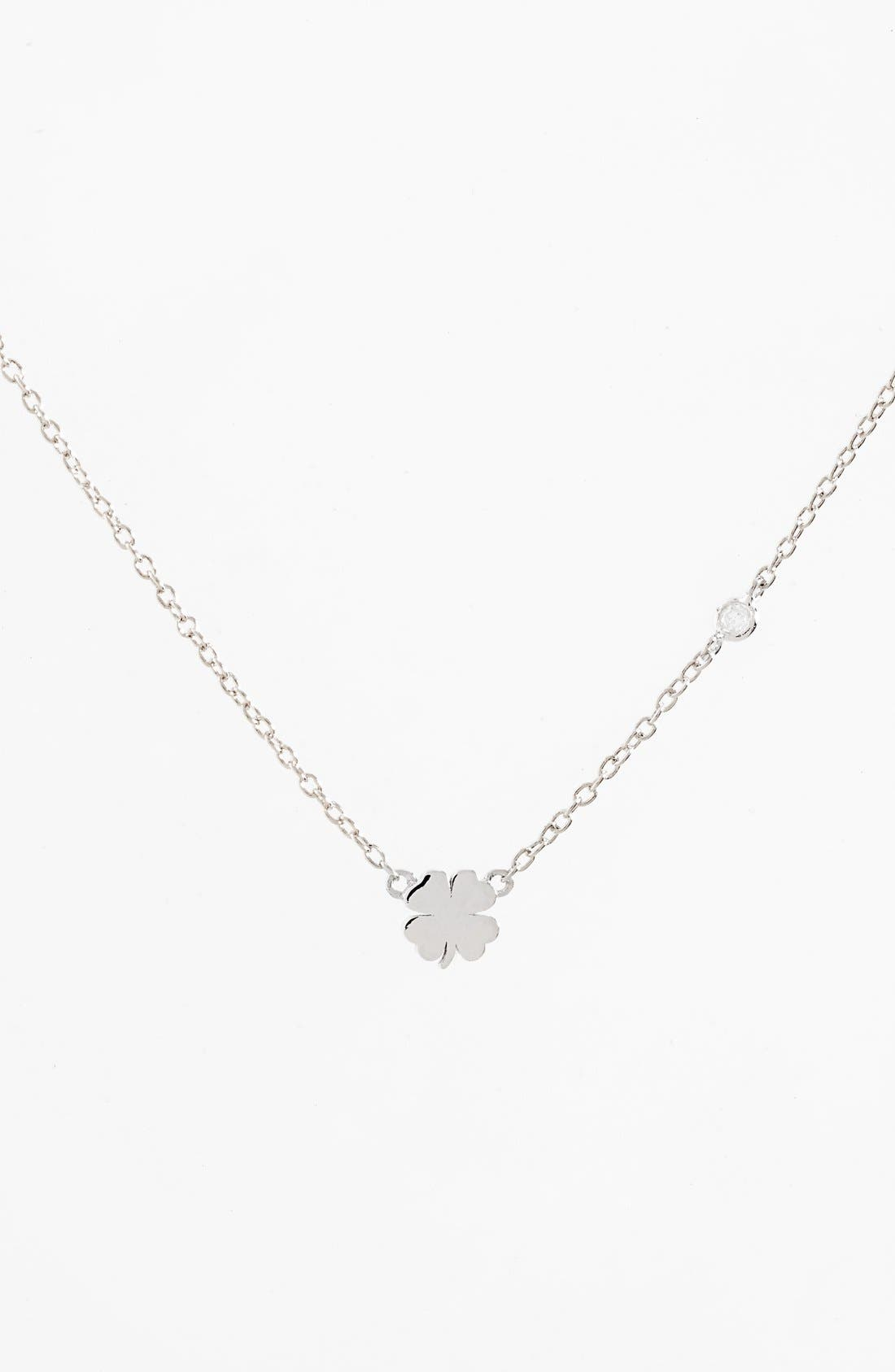 Shy by SE Clover Necklace,                         Main,                         color, 040