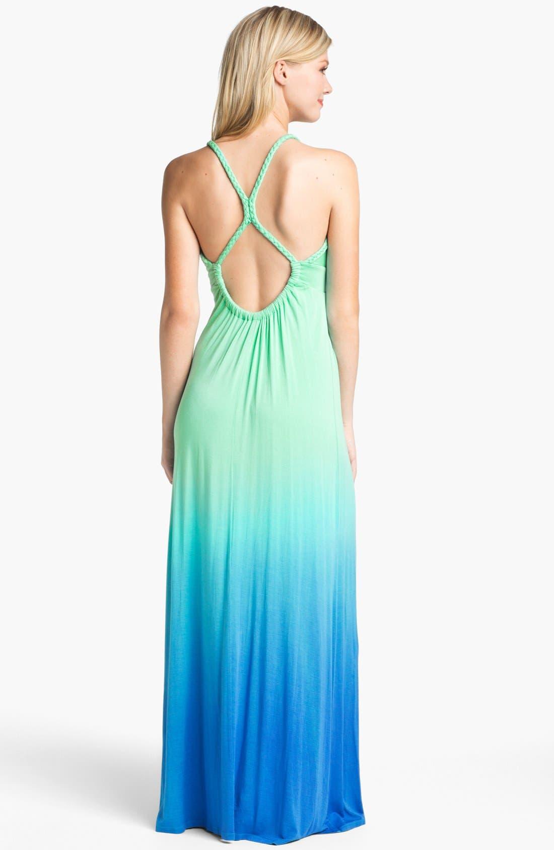Ombré Jersey Maxi Dress,                             Alternate thumbnail 4, color,                             429