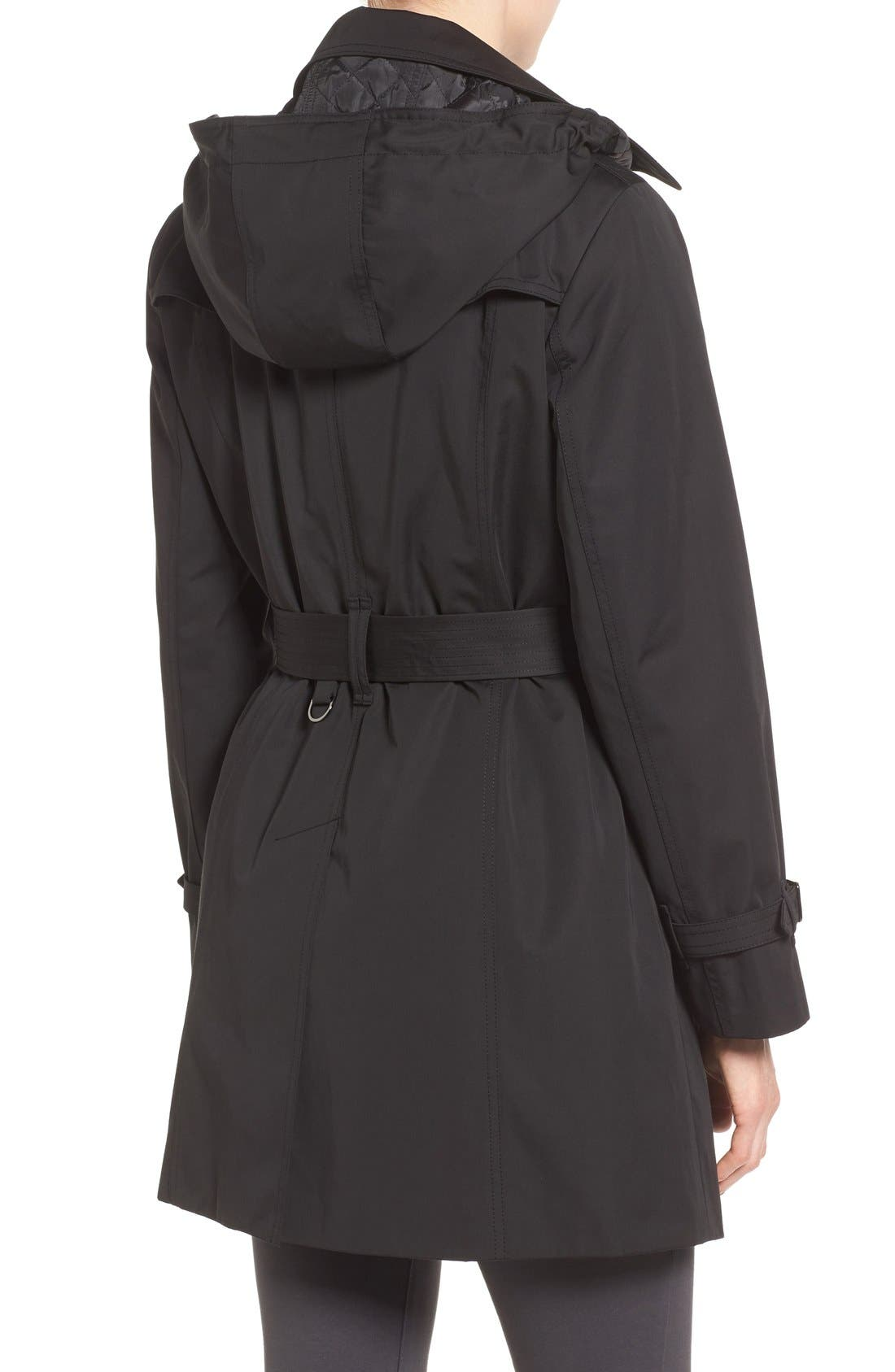 Single Breasted Trench Coat,                             Alternate thumbnail 3, color,