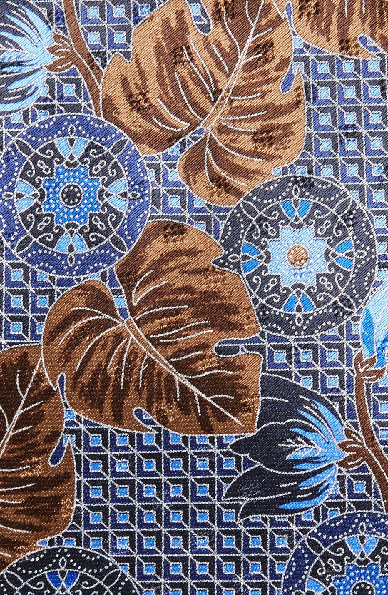 Floral Silk Tie,                             Alternate thumbnail 2, color,                             418