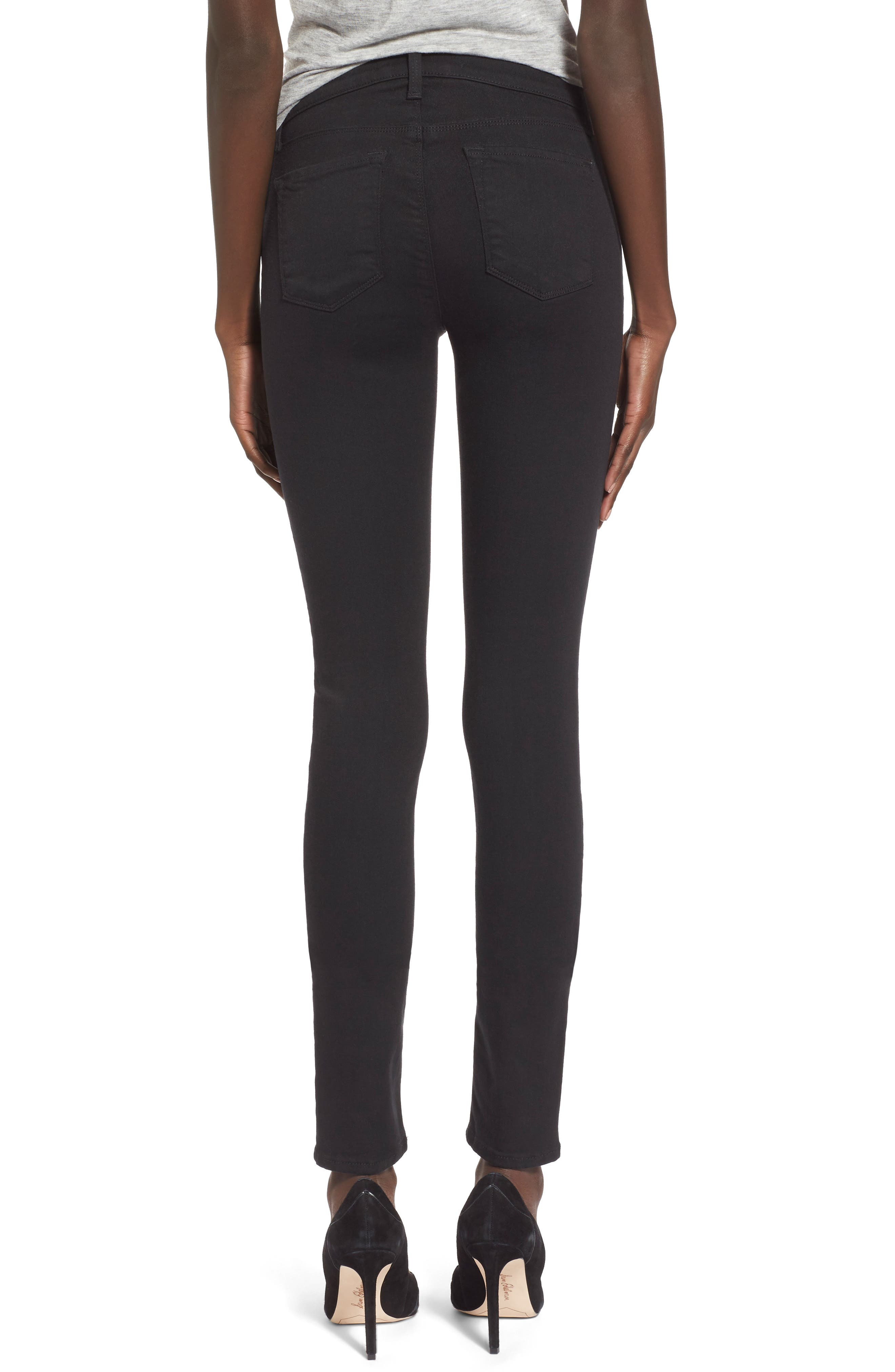 J BRAND,                             Super Skinny Jeans,                             Alternate thumbnail 6, color,                             SERIOUSLY BLACK