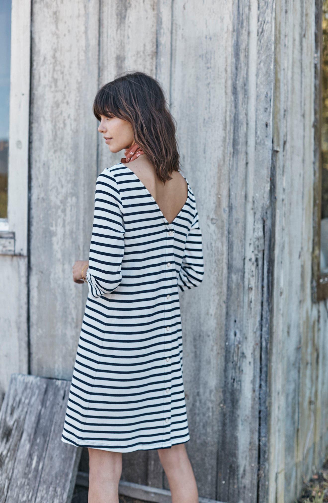 Trista Organic Cotton Dress,                             Alternate thumbnail 7, color,                             900