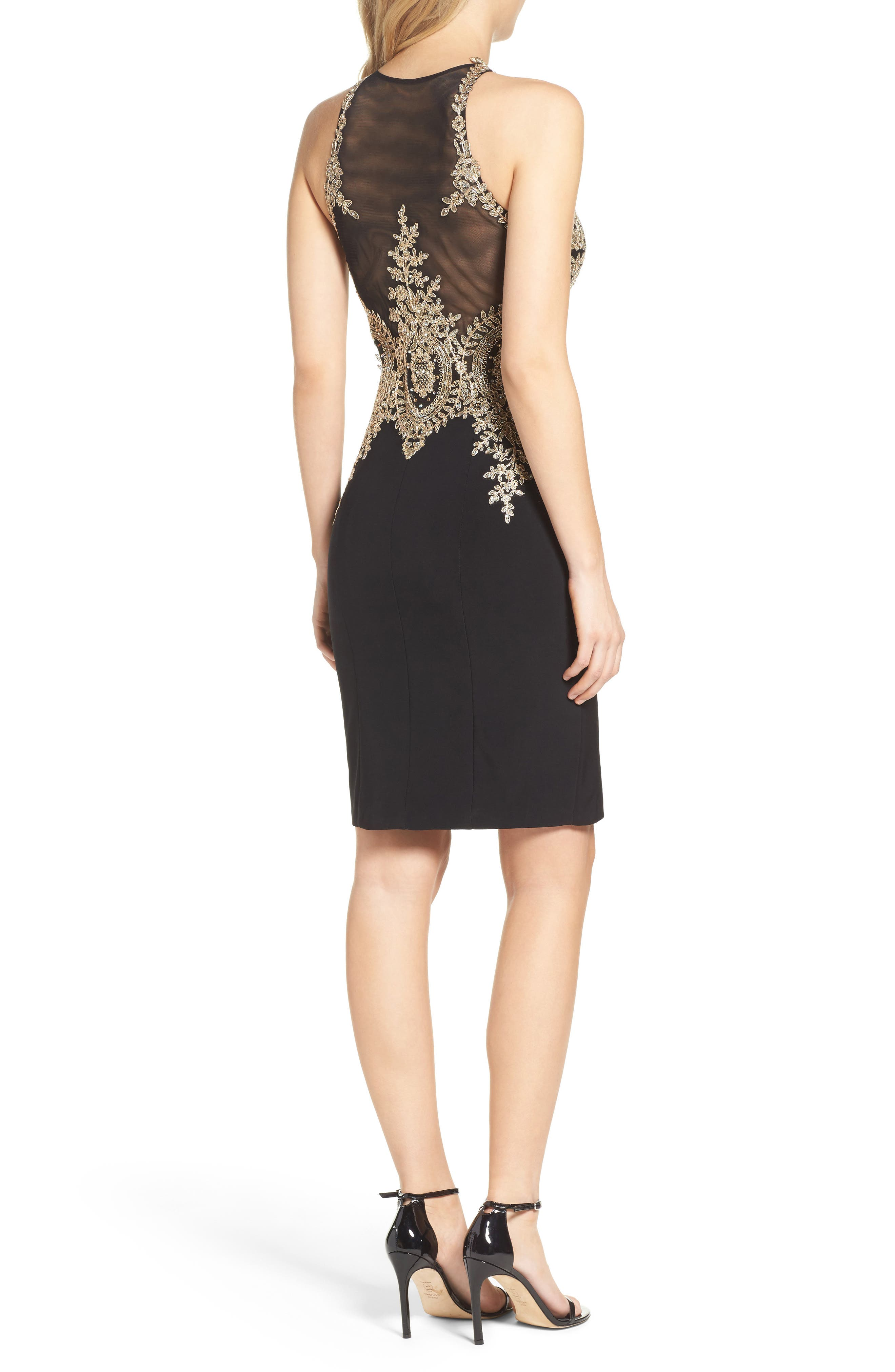 Embroidered Sheath Dress,                             Alternate thumbnail 2, color,                             011