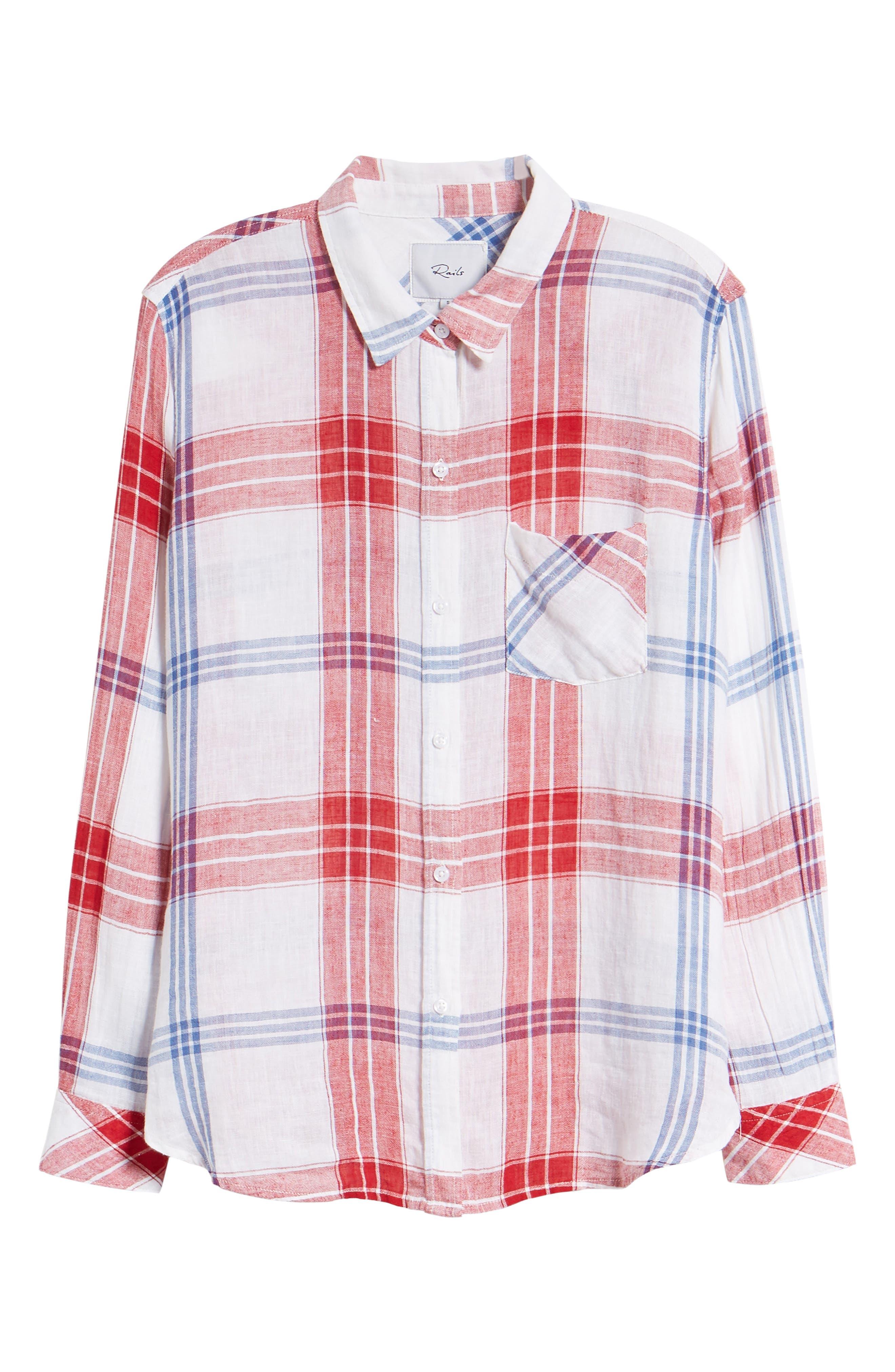 Charli Shirt,                             Alternate thumbnail 7, color,                             CARMINE BLUE WHITE
