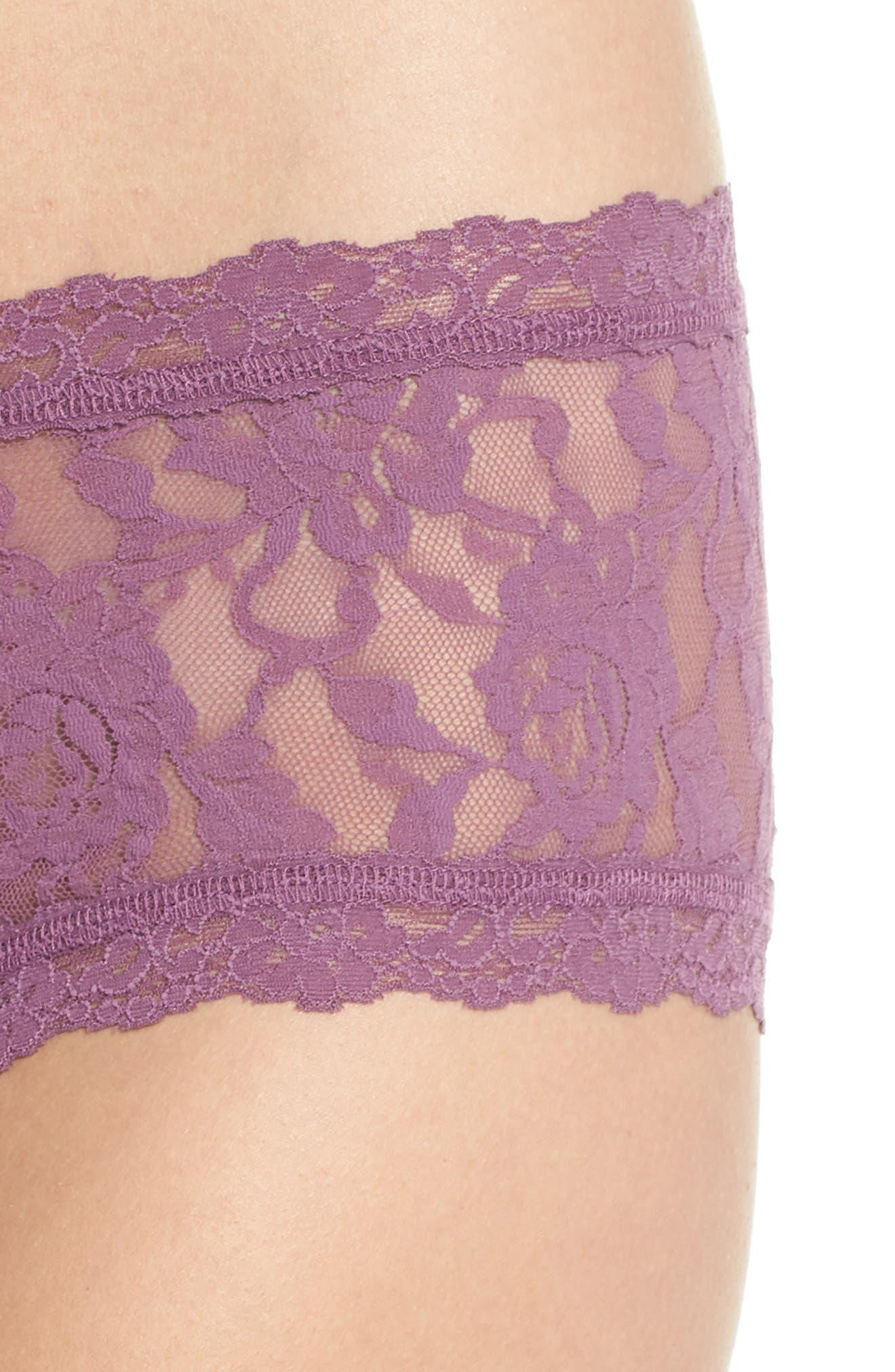 'Signature Lace' Boyshorts,                             Alternate thumbnail 372, color,