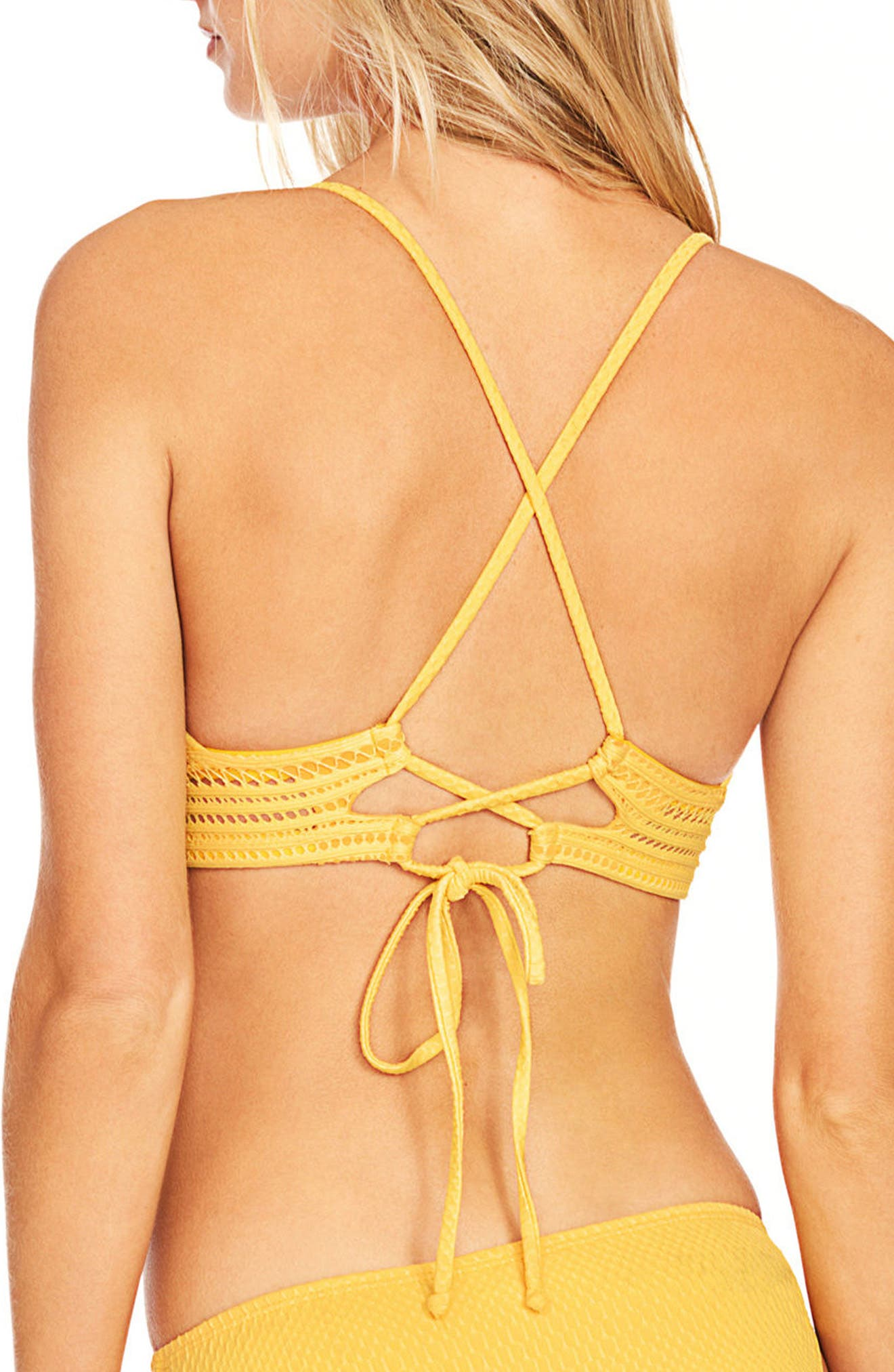Perla Bikini Top,                             Alternate thumbnail 2, color,                             DANDELION