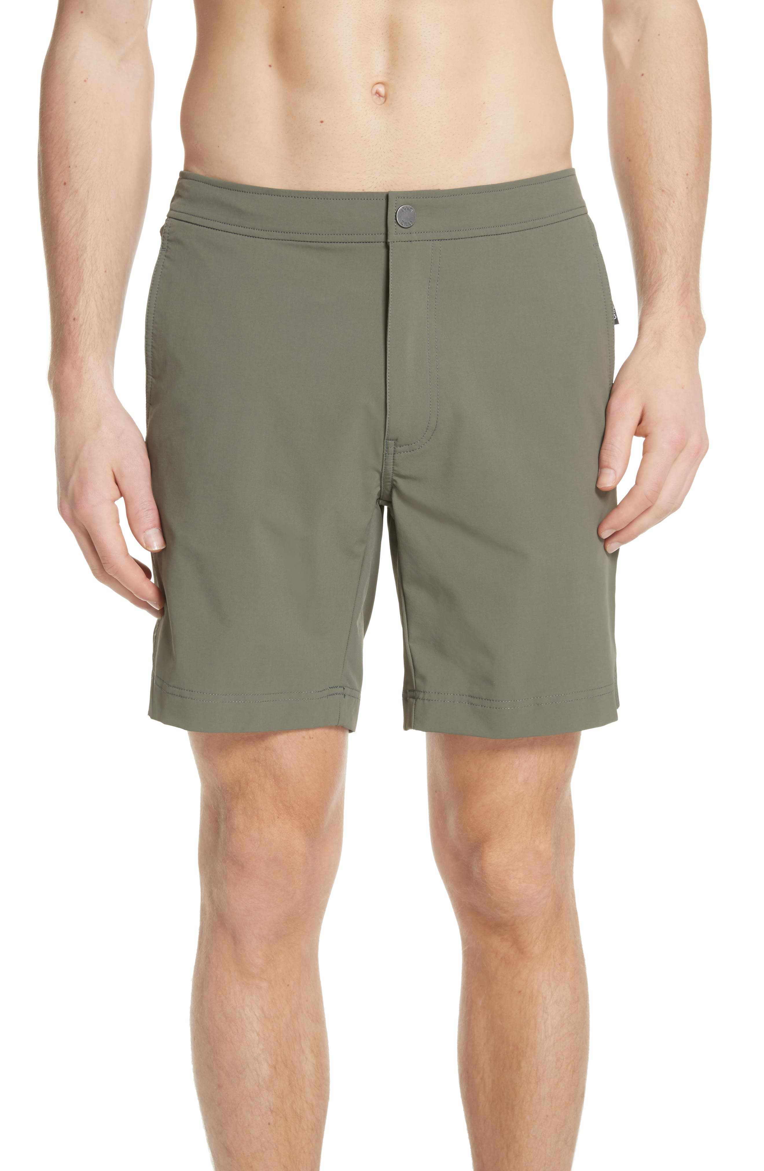 Calder Swim Trunks,                             Main thumbnail 1, color,                             DEEP SAGE