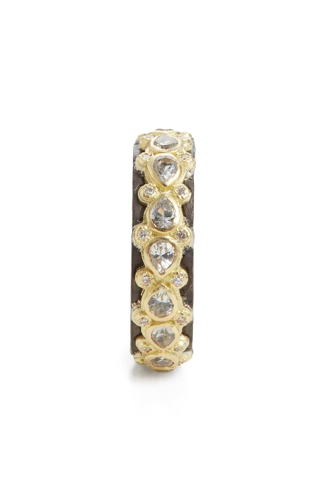 Old World Lacy Eternity Diamond & Sapphire Ring,                             Alternate thumbnail 3, color,                             GOLD