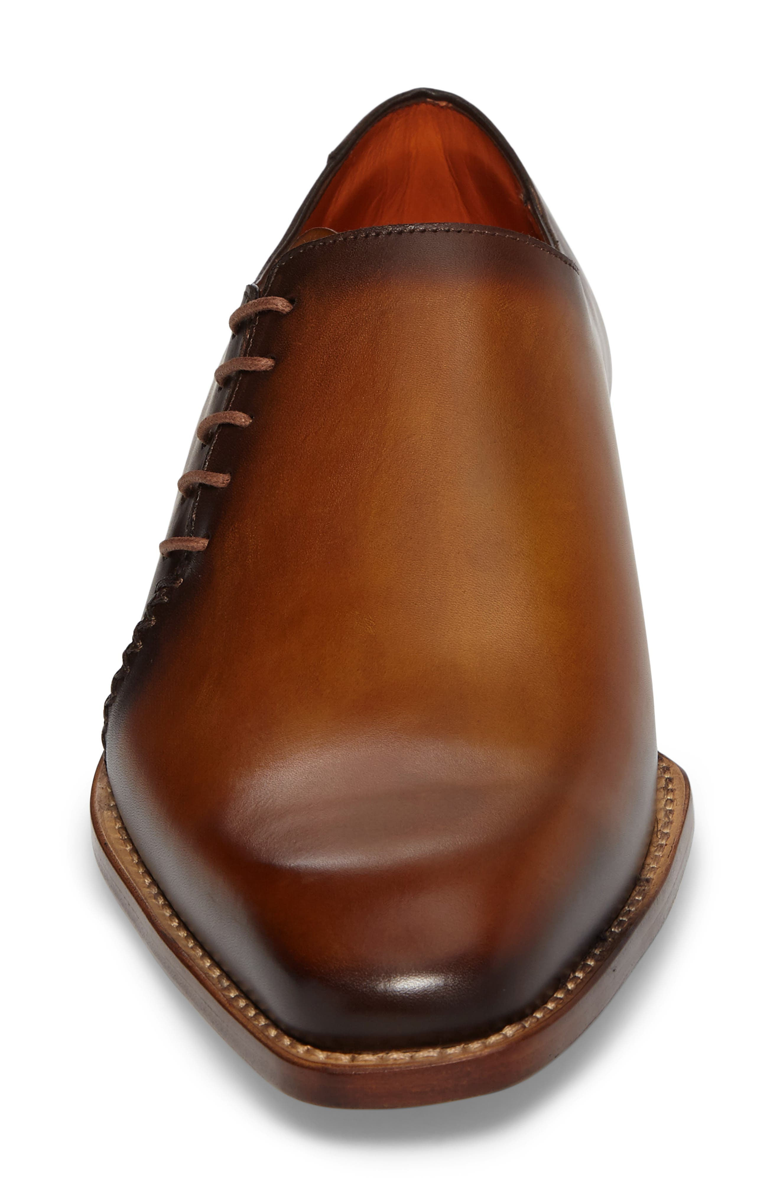 Master Wholecut Oxford,                             Alternate thumbnail 4, color,                             HONEY LEATHER