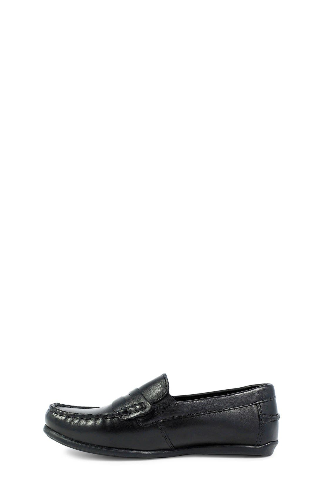 'Jasper - Driver Jr.' Loafer,                             Alternate thumbnail 2, color,                             BLACK LEATHER