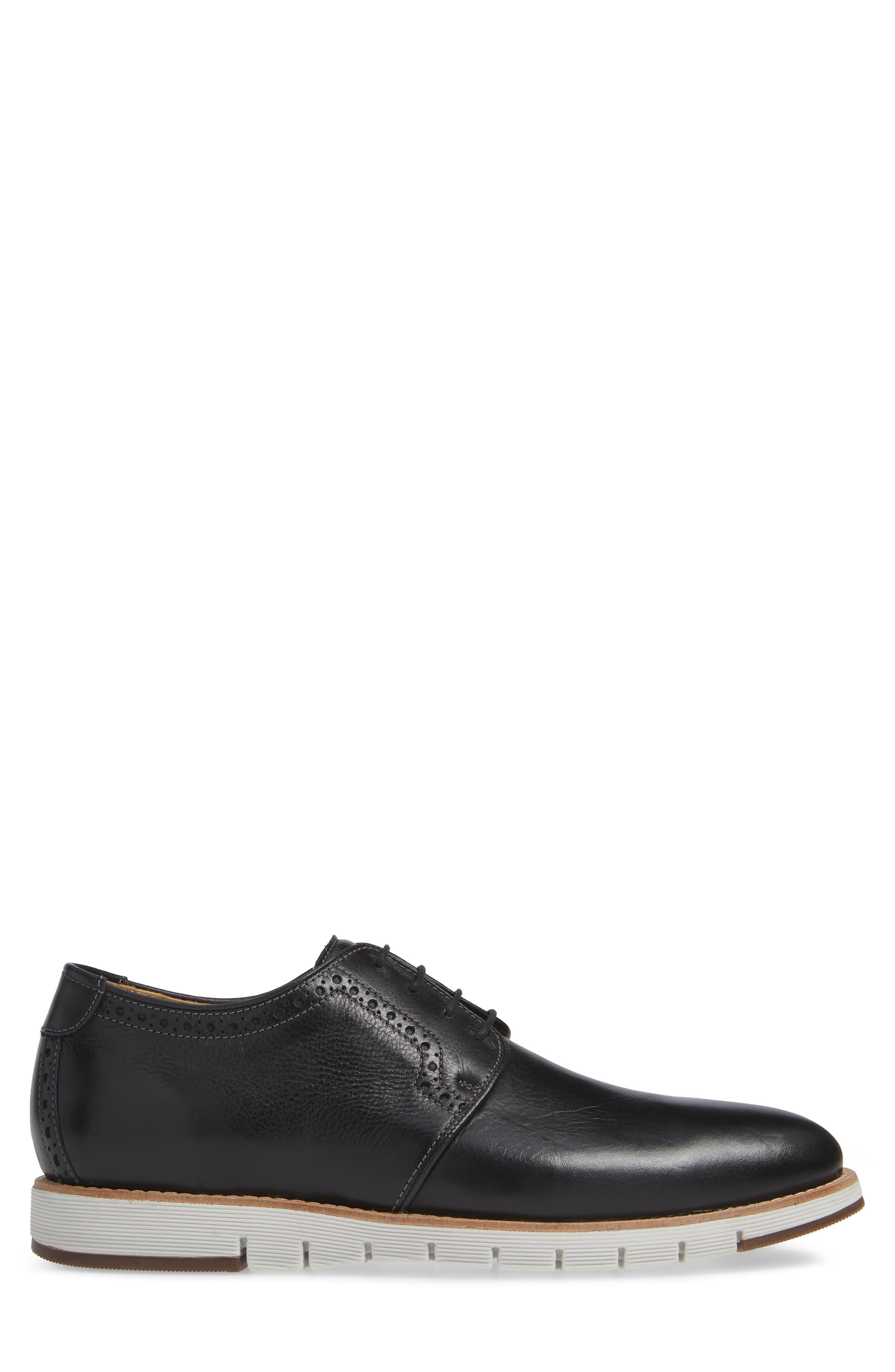 Martell Plain Toe Derby,                             Alternate thumbnail 3, color,                             BLACK LEATHER