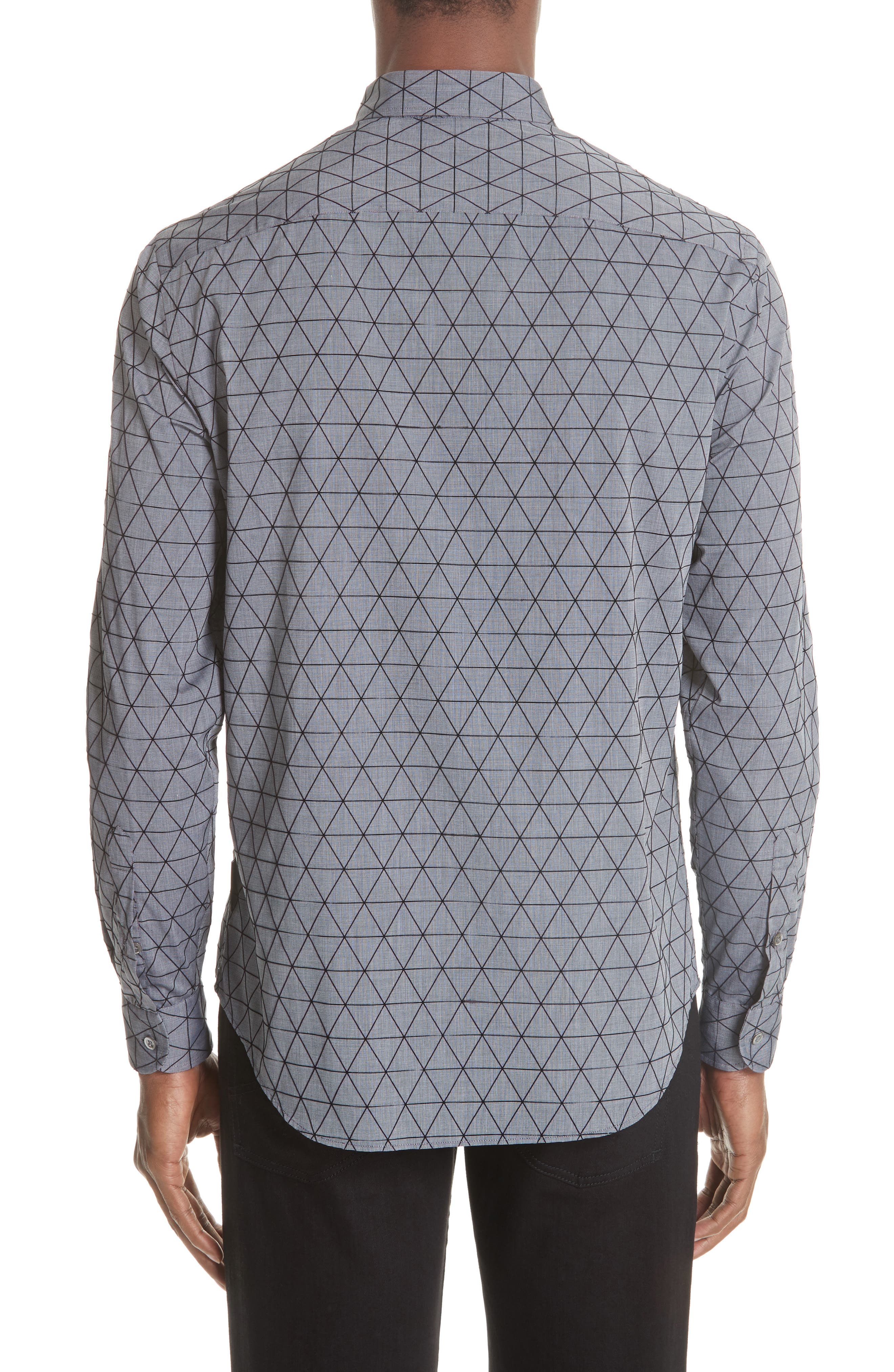 Regular Fit Geometric Sport Shirt,                             Alternate thumbnail 2, color,                             GREY MULTI