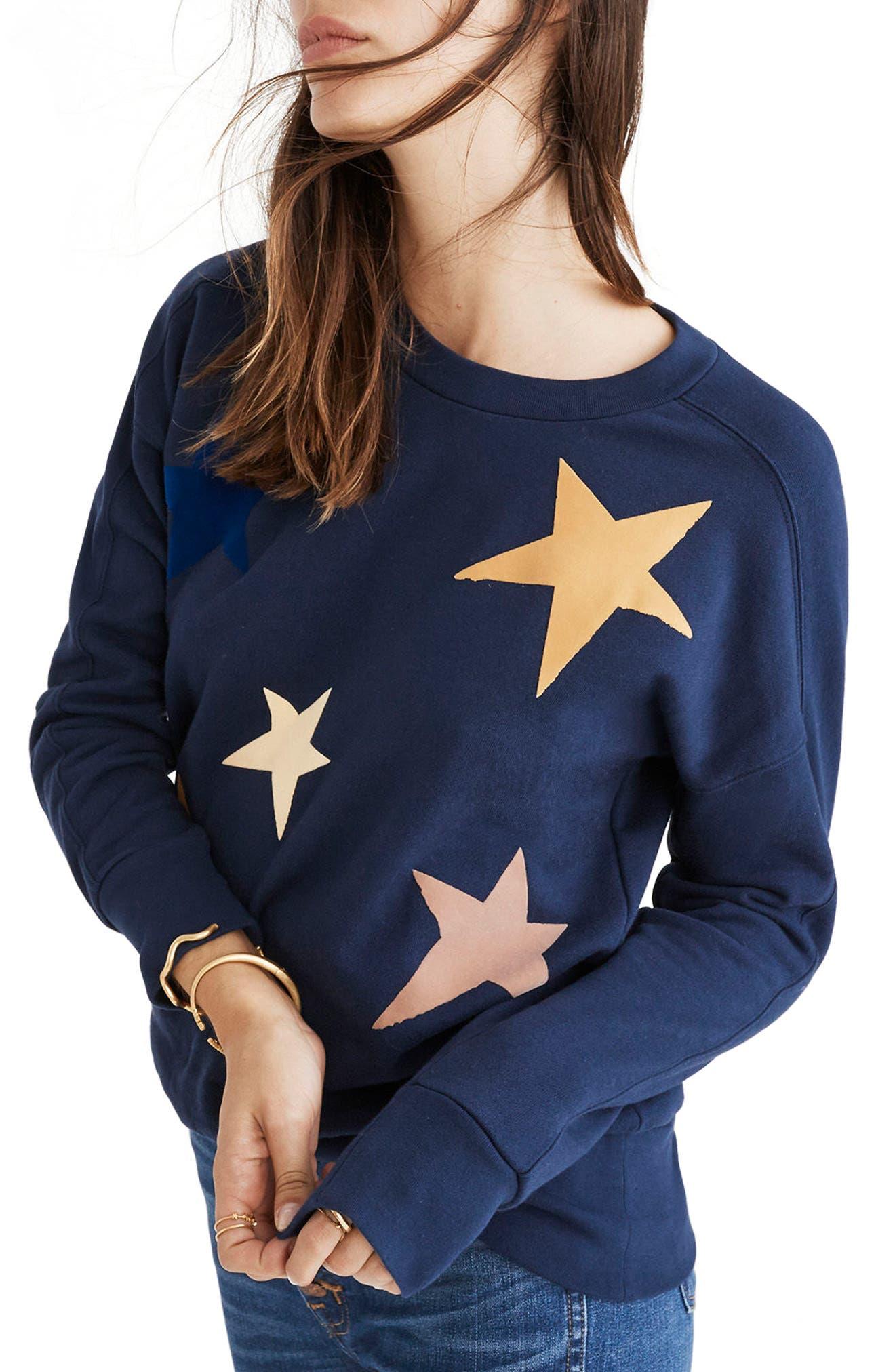 Starry Sweatshirt,                             Main thumbnail 1, color,                             410