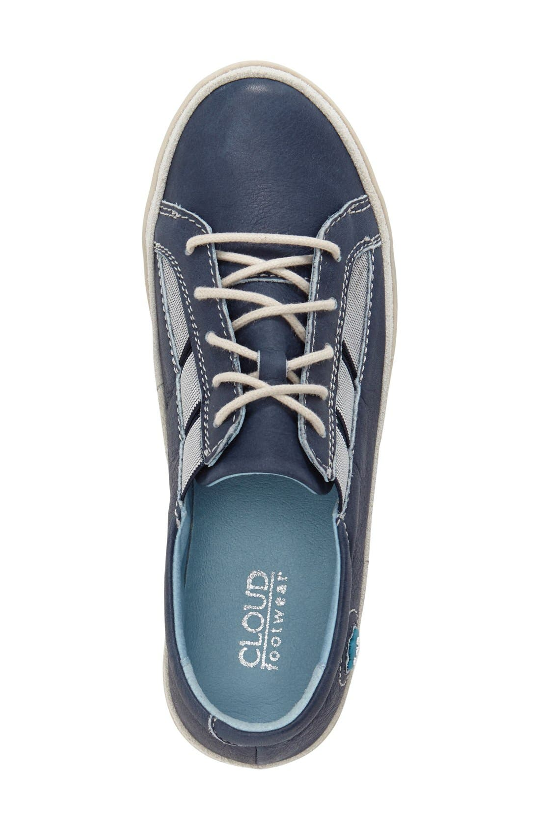 'Amazonas' Leather Sneaker,                             Alternate thumbnail 3, color,                             BLUE LEATHER