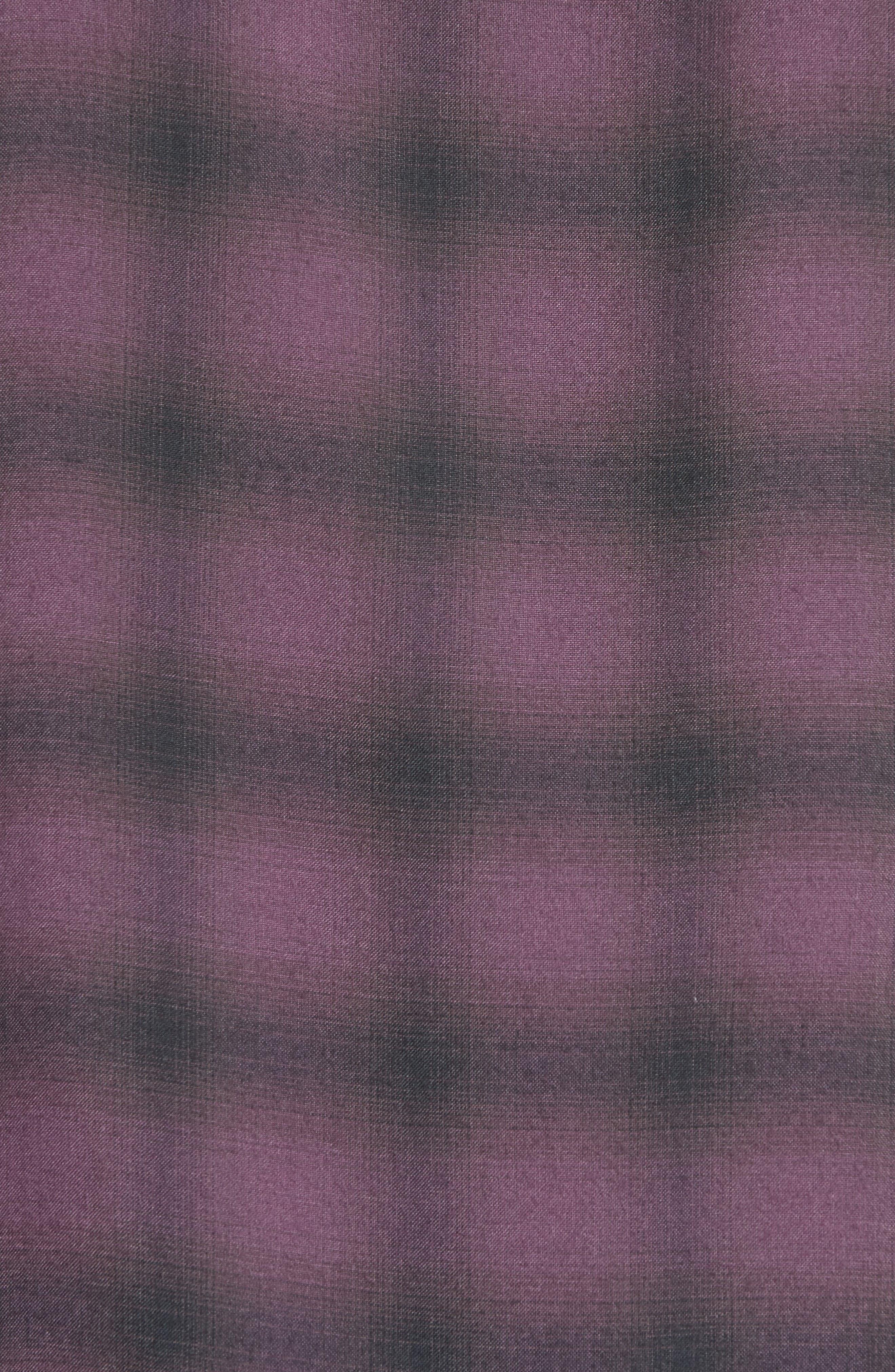 Ombré Check Short Sleeve Sport Shirt,                             Alternate thumbnail 5, color,                             523