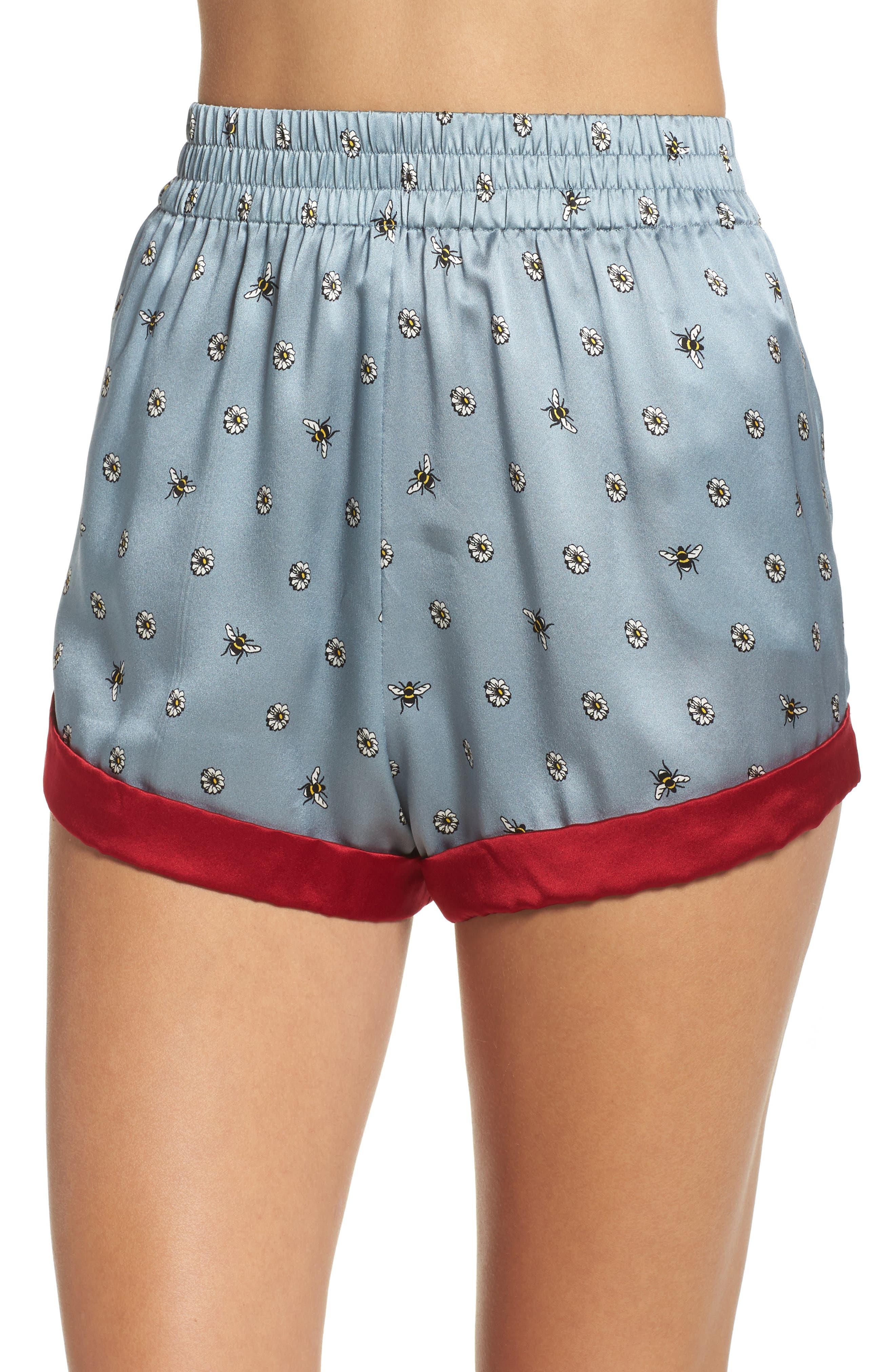 Chloe Silk Pajama Shorts,                             Main thumbnail 1, color,                             490