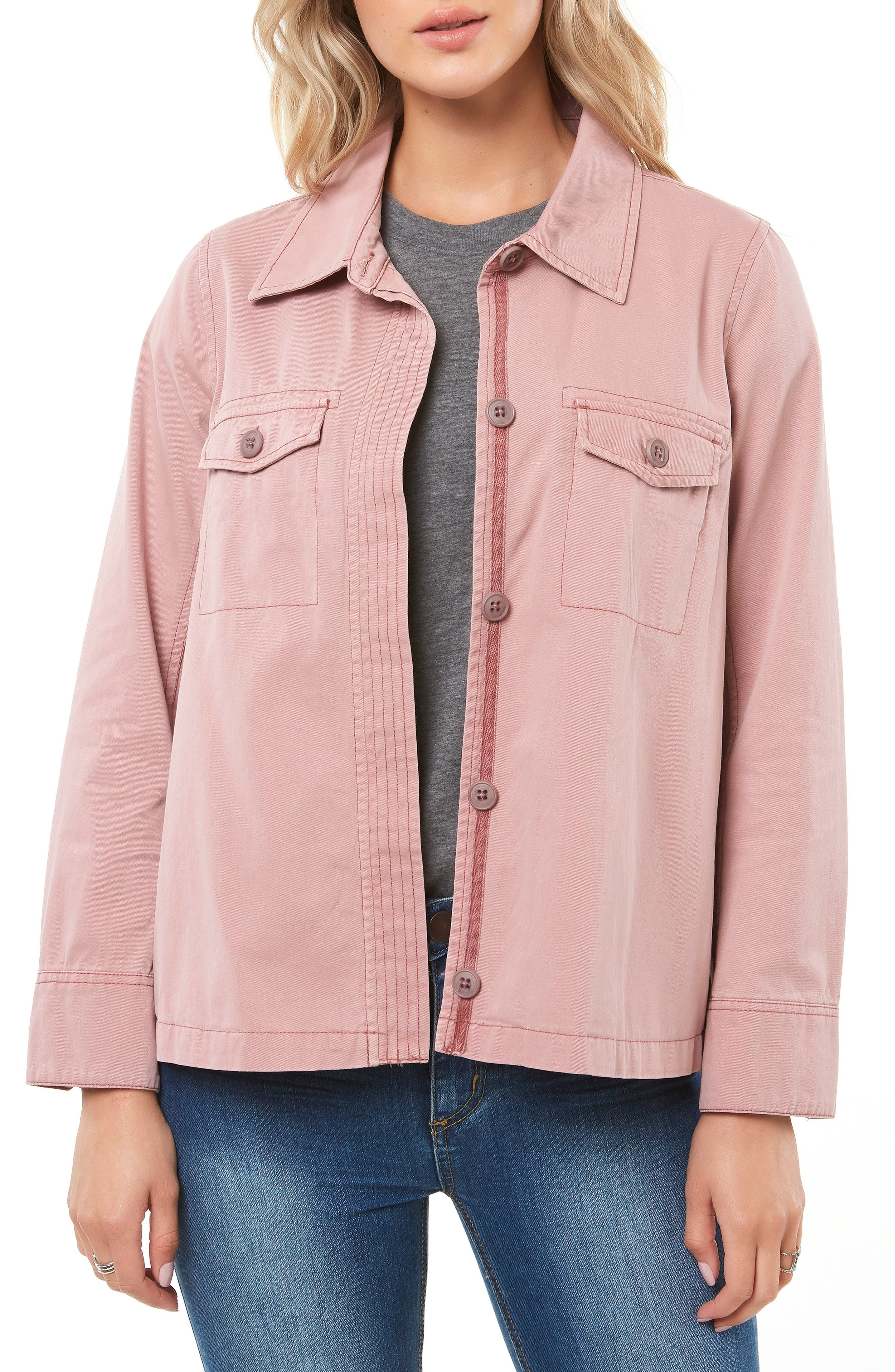 Ripley Twill Shirt Jacket,                         Main,                         color, FAWN