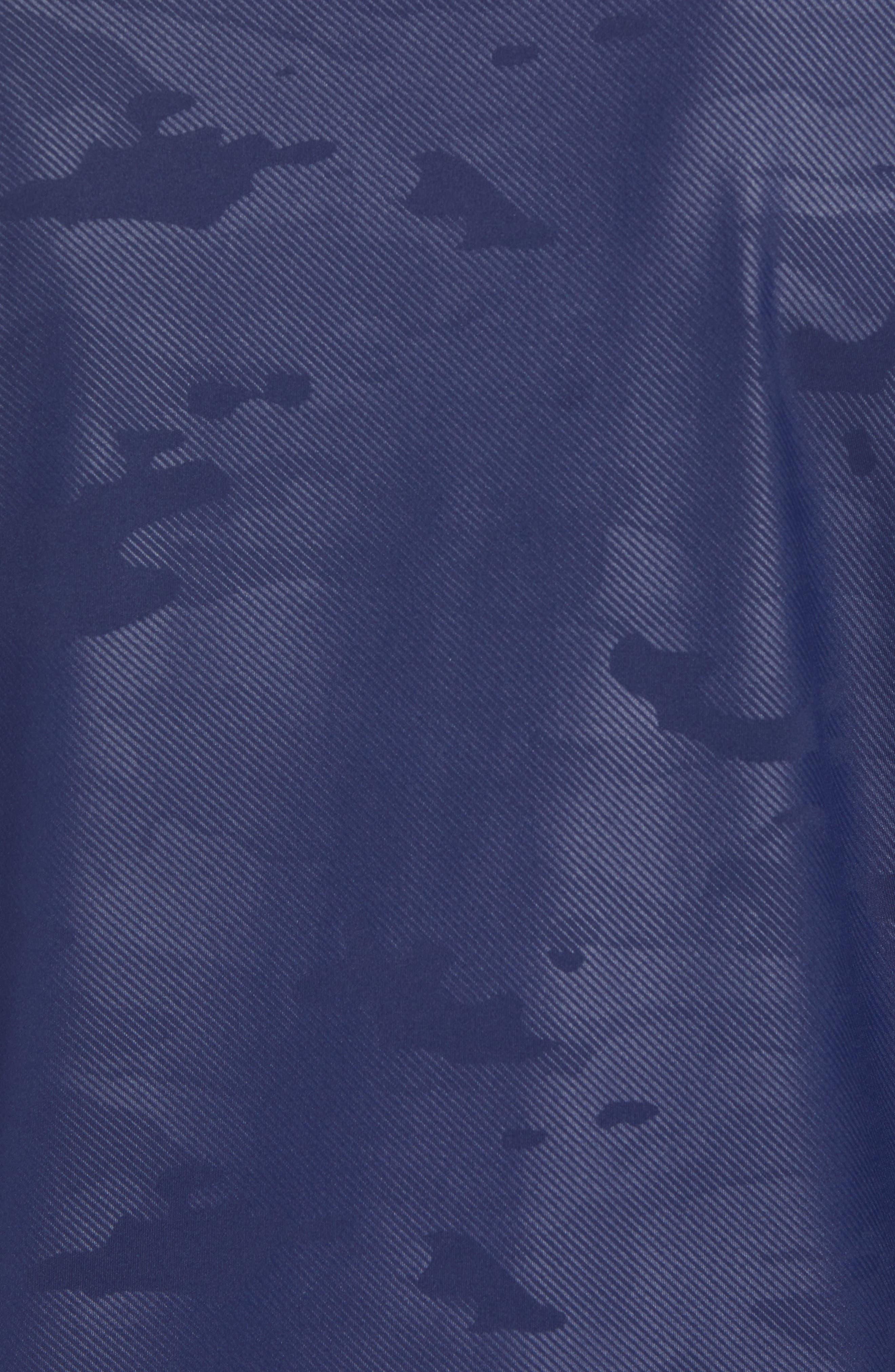 Camo Regular Fit Quarter-Zip Pullover,                             Alternate thumbnail 6, color,                             400