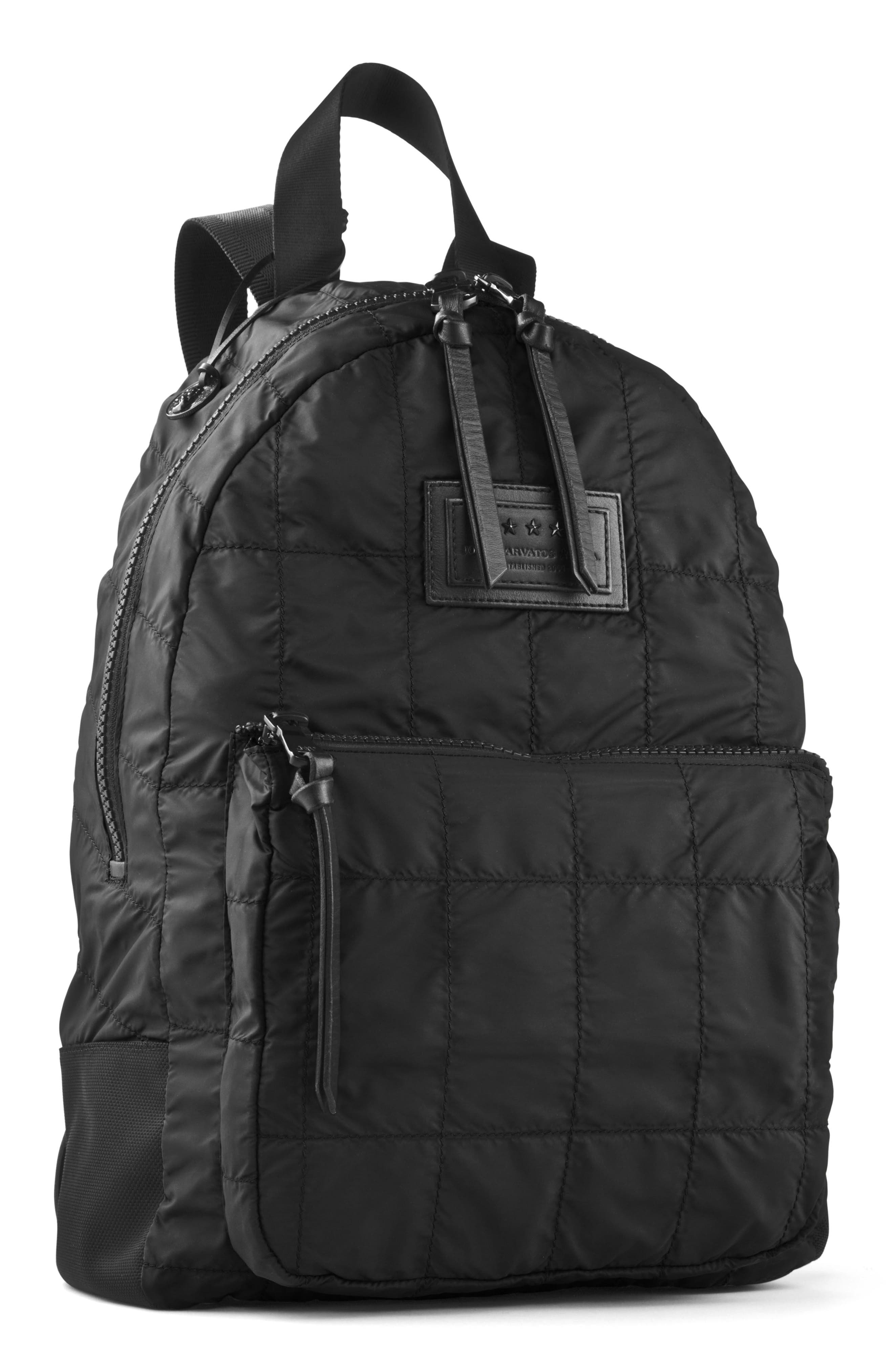 Quilted Nylon Backpack,                         Main,                         color, 001
