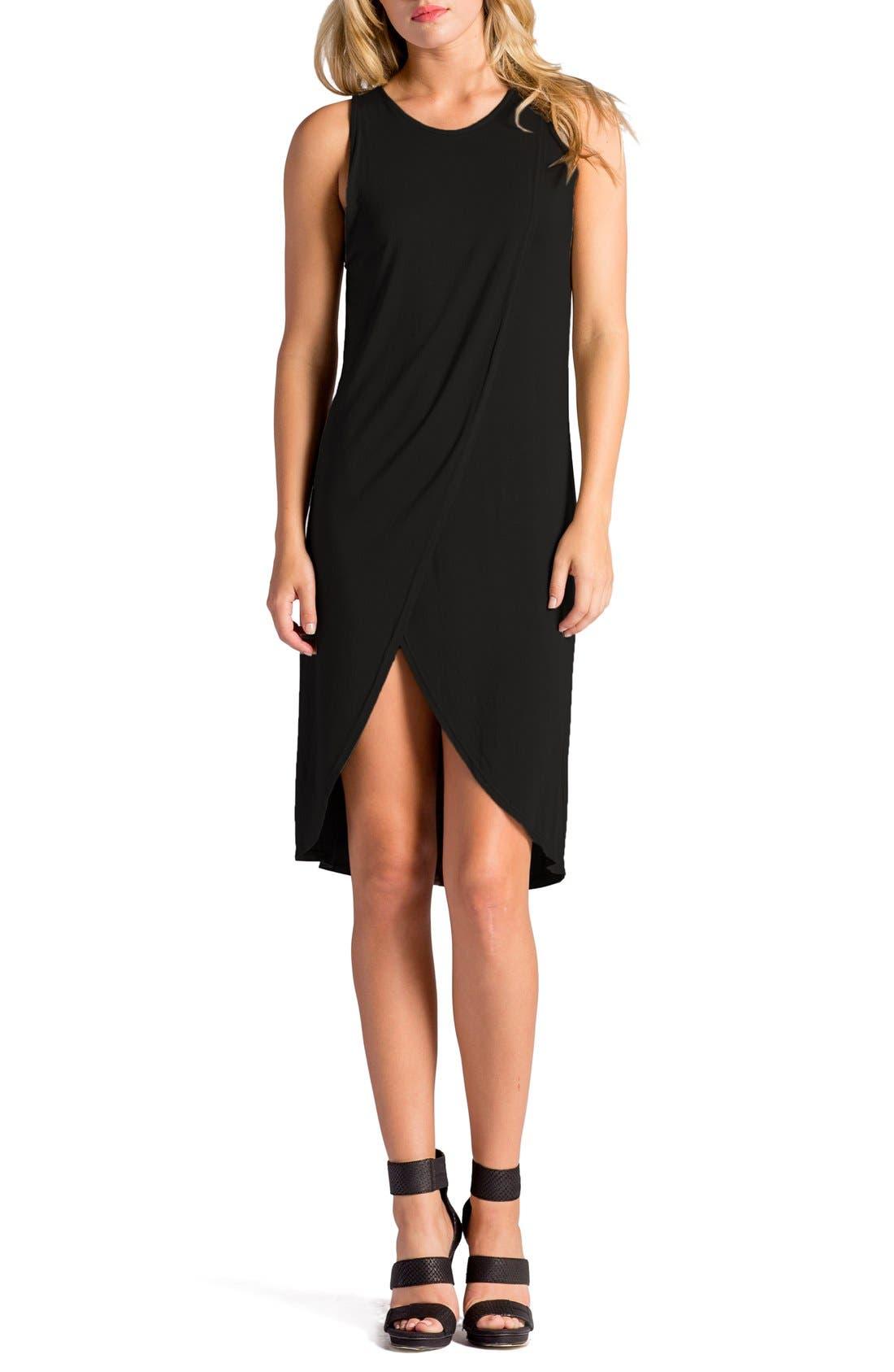 Elba Asymmetrical Hem Sleeveless Jersey Dress,                             Main thumbnail 2, color,