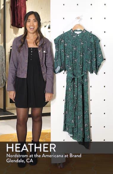 Japanese Floral Midi Dress, sales video thumbnail