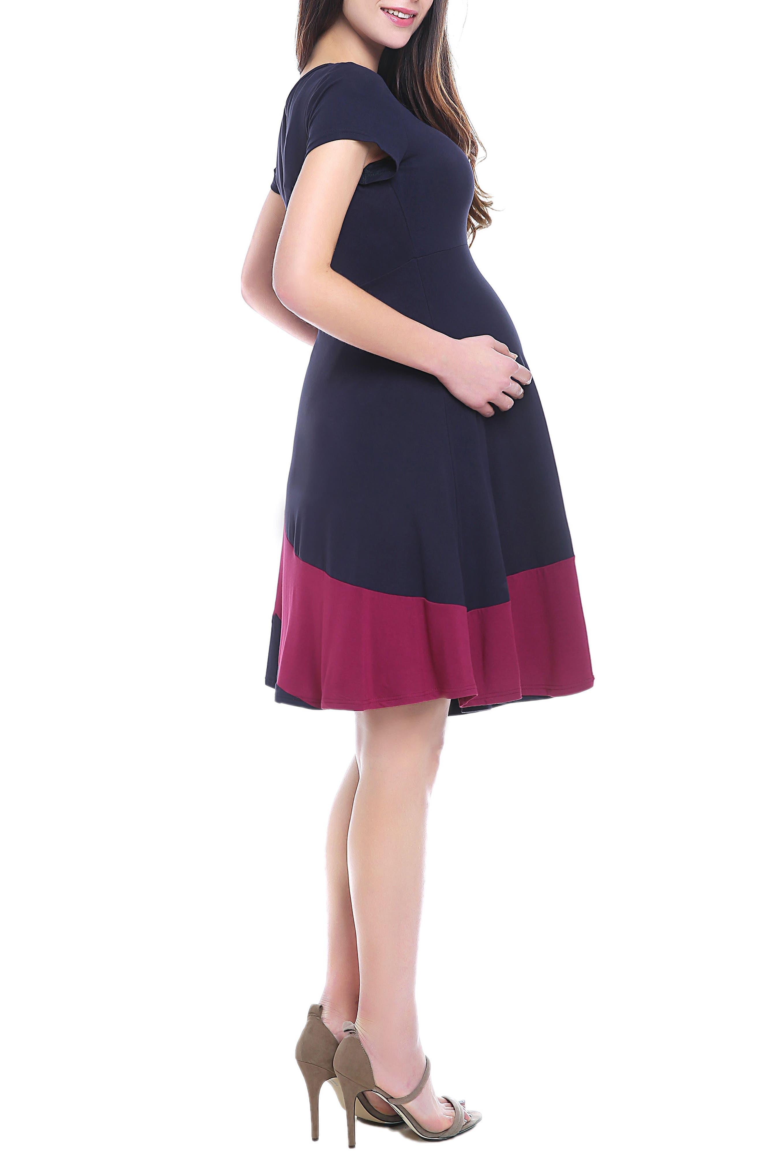 June Maternity Babydoll Dress,                             Alternate thumbnail 4, color,