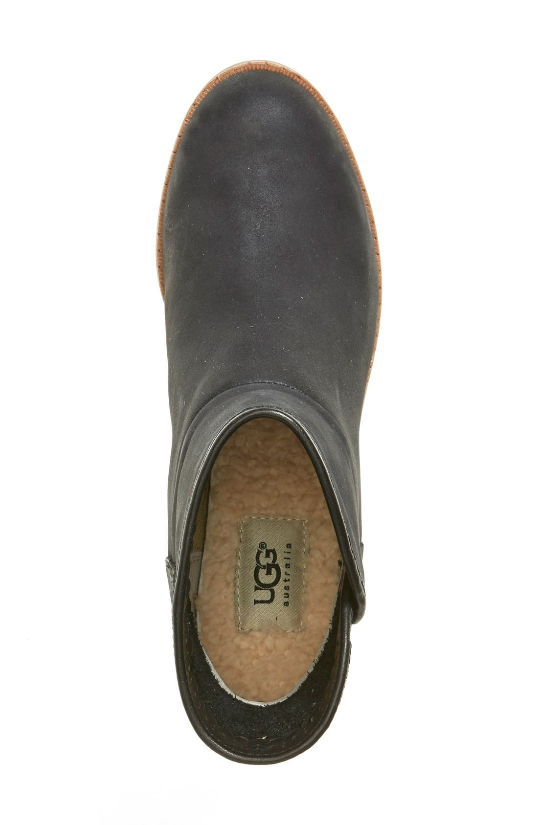UGG<SUP>®</SUP>,                             Australia 'Darling' Suede Bootie,                             Alternate thumbnail 6, color,                             001